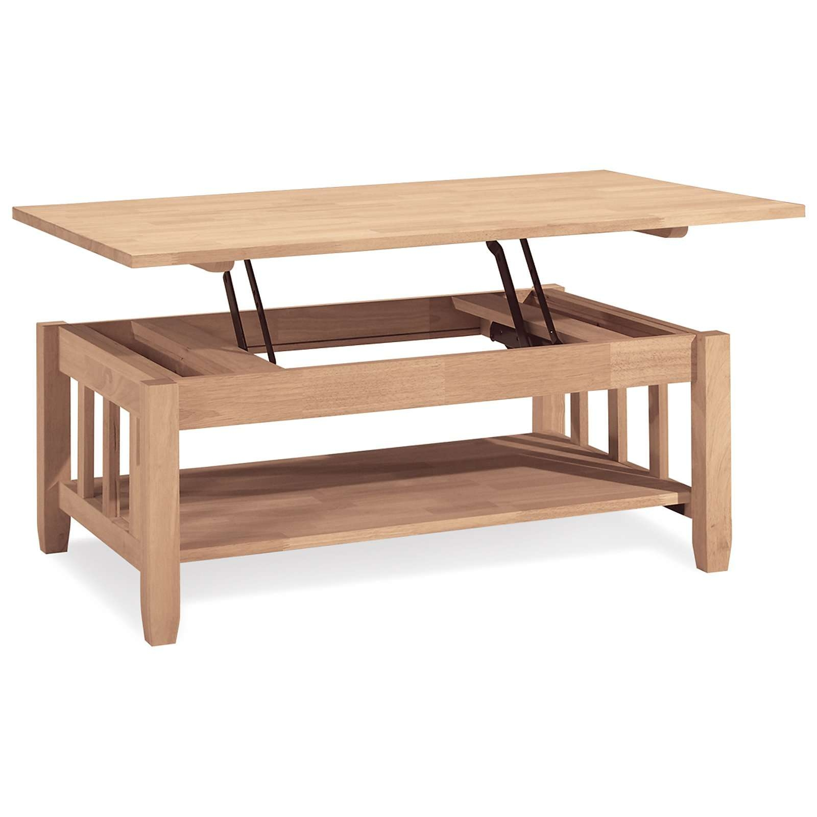 Preferred Flip Top Coffee Tables For International Concepts Mission Solid Wood Lift Top Coffee Table (View 13 of 20)