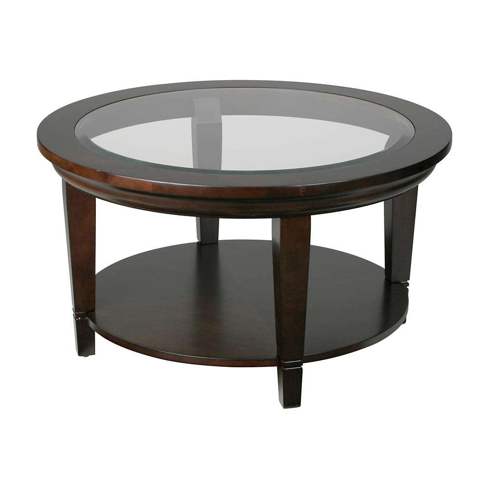 Preferred Glass Circle Coffee Tables With Coffee Tables Ideas: Incredible Round Wood And Glass Coffee Table (View 14 of 20)