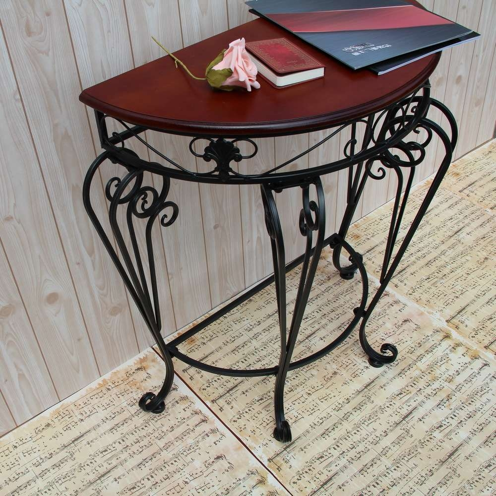 Preferred Half Circle Coffee Tables Pertaining To Continental Iron Coffee Table And A Few Side Tables , Wrought Iron (View 19 of 20)