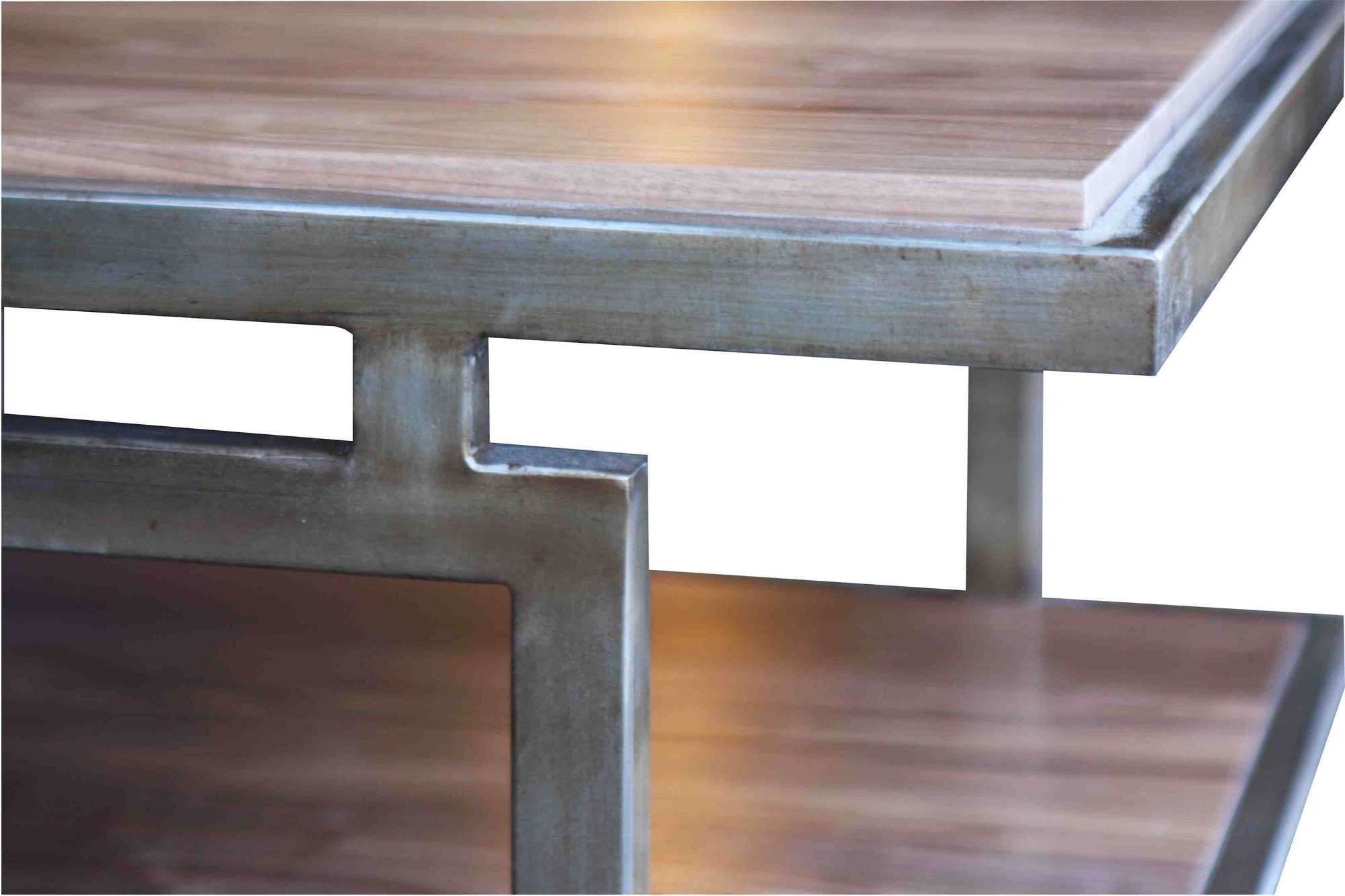 Preferred Metal And Wood Coffee Tables Throughout High Coffee Offered Standard Wood Coffee Table With Metal Legs (View 16 of 20)