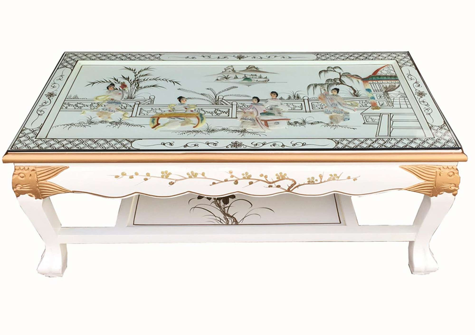 Preferred Mother Of Pearl Coffee Tables For Blandsdirect :: Oriental Furniture :: White Lacquer Mother Of (View 11 of 20)