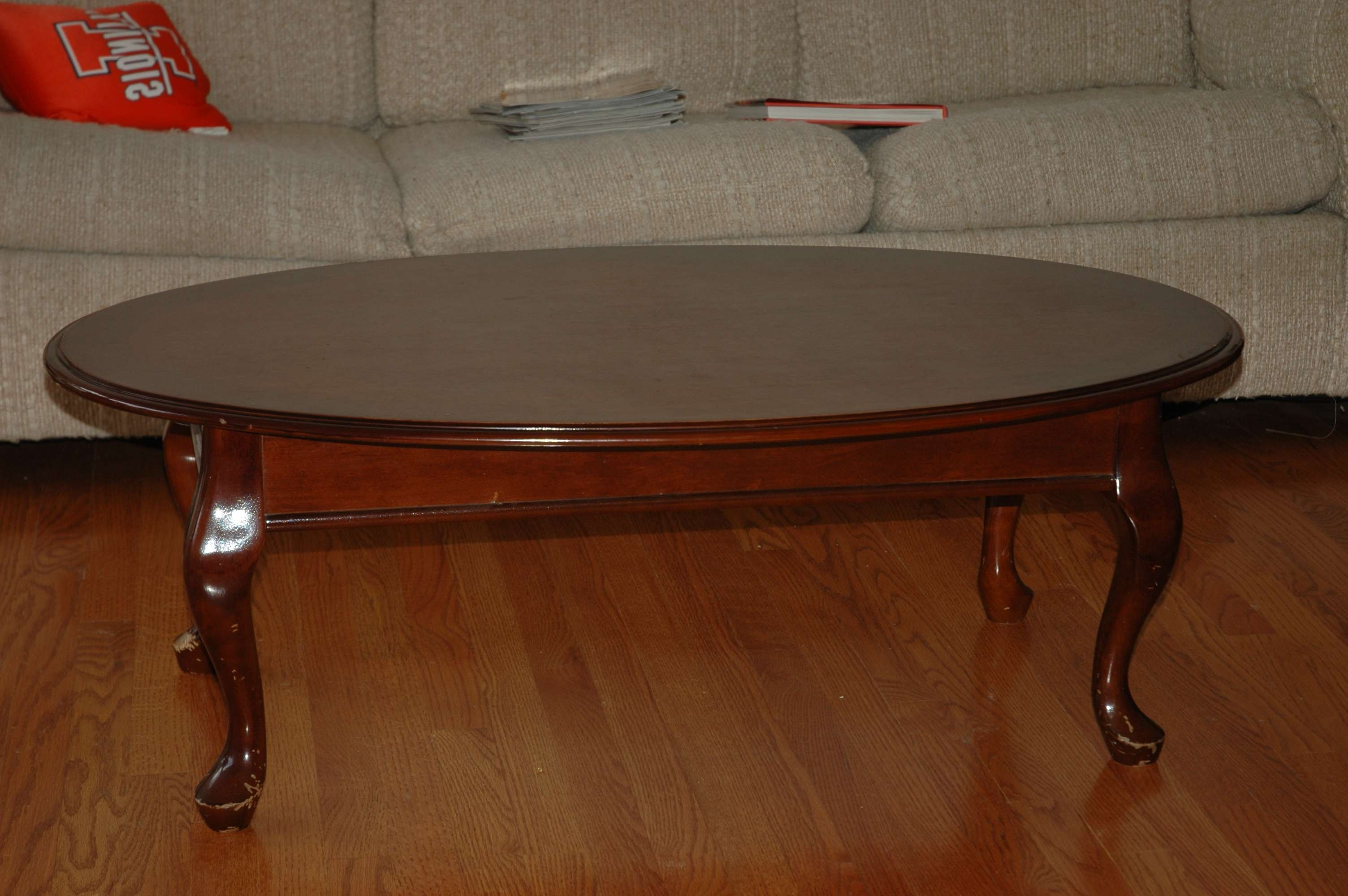 Preferred Oval Shaped Coffee Tables Pertaining To Cherry Coffee Table (View 6 of 20)
