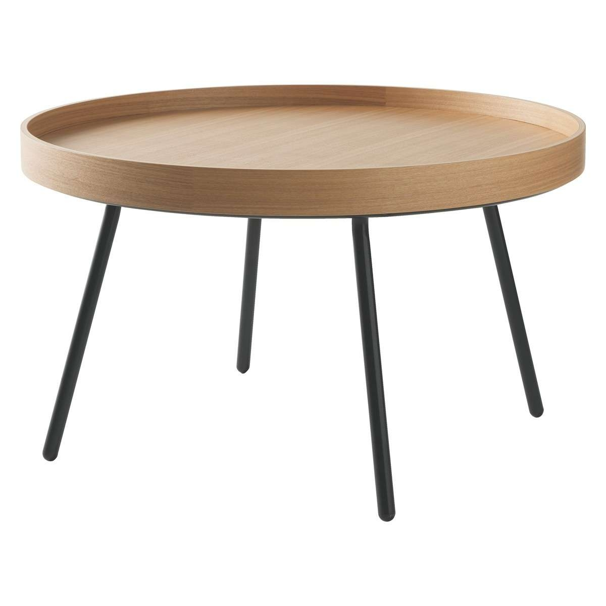 Preferred Round Oak Coffee Tables Throughout Larke Round Oak Tray Coffee Table (View 14 of 20)