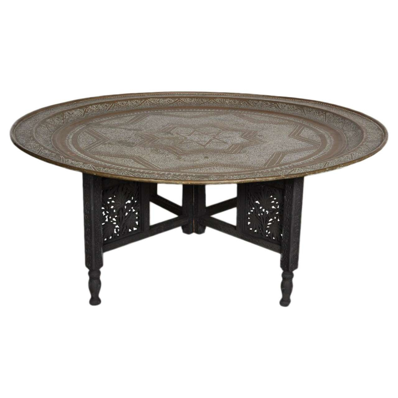 Preferred Round Tray Coffee Tables With Coffee Table Coffee Table Moroccan Round Brass Tray Foxa Black (View 16 of 20)
