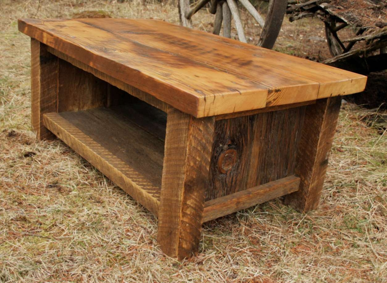 Preferred Rustic Barnwood Coffee Tables Throughout Barnwood Furniture – 37 Of The Best Examples (View 15 of 20)