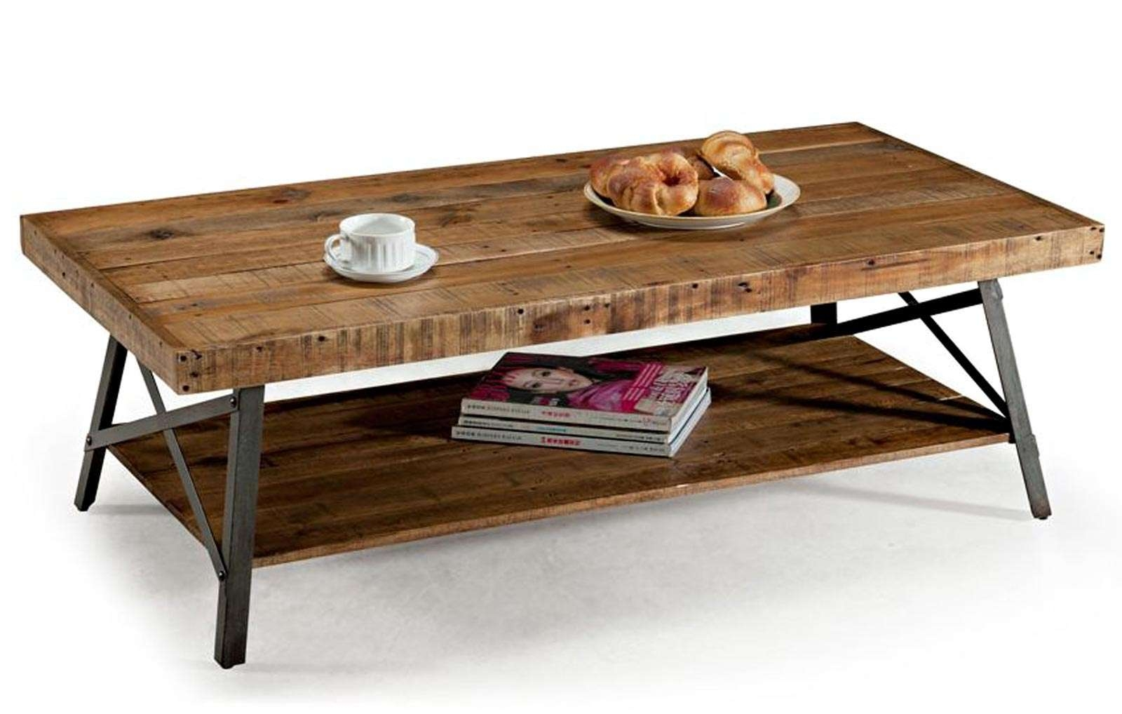 Preferred Rustic Wood Diy Coffee Tables Intended For Diy Industrial Coffee Table With Plumbing Pipe Base Rustic (View 15 of 20)