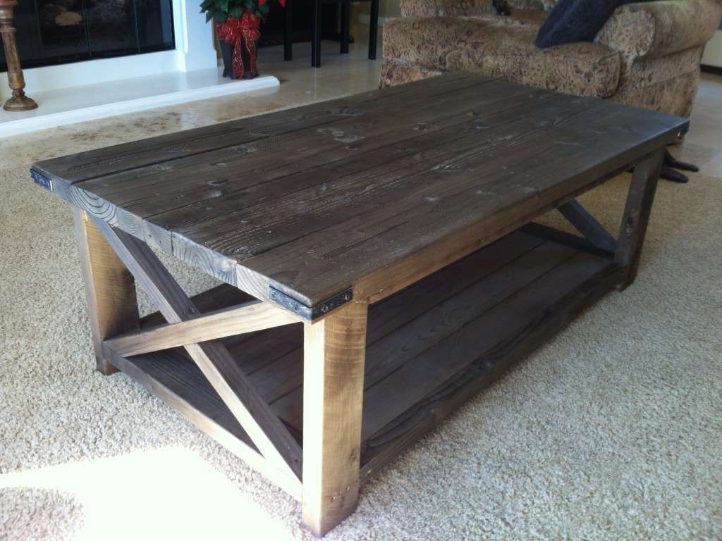 Preferred Rustic Wooden Coffee Tables Pertaining To Rustic Wood Coffee Table Luxury Ana White Rustic X Coffee Table (View 15 of 20)
