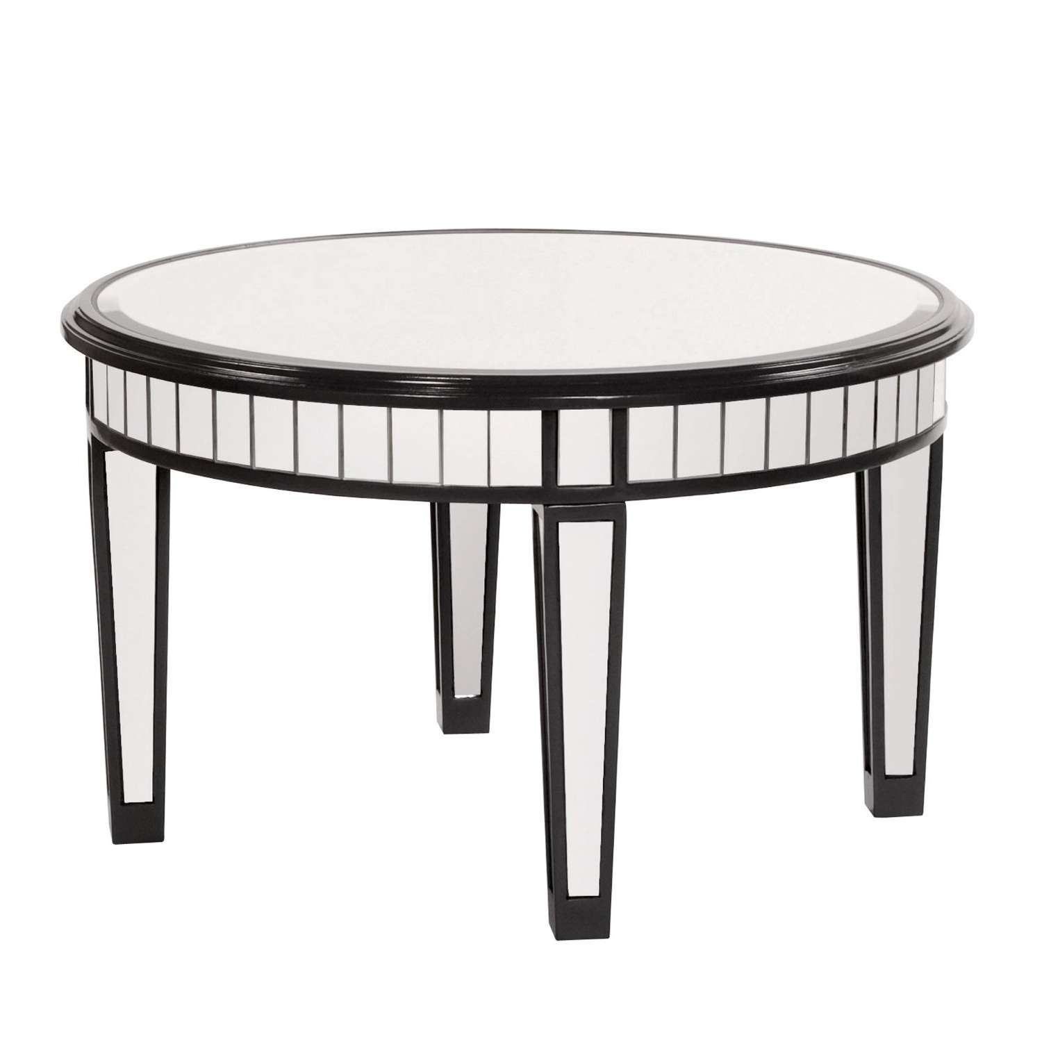 Preferred Small Mirrored Coffee Tables For Ideas: Mesmerizing Mirrored Coffee Table With Glass And Wood (View 20 of 20)