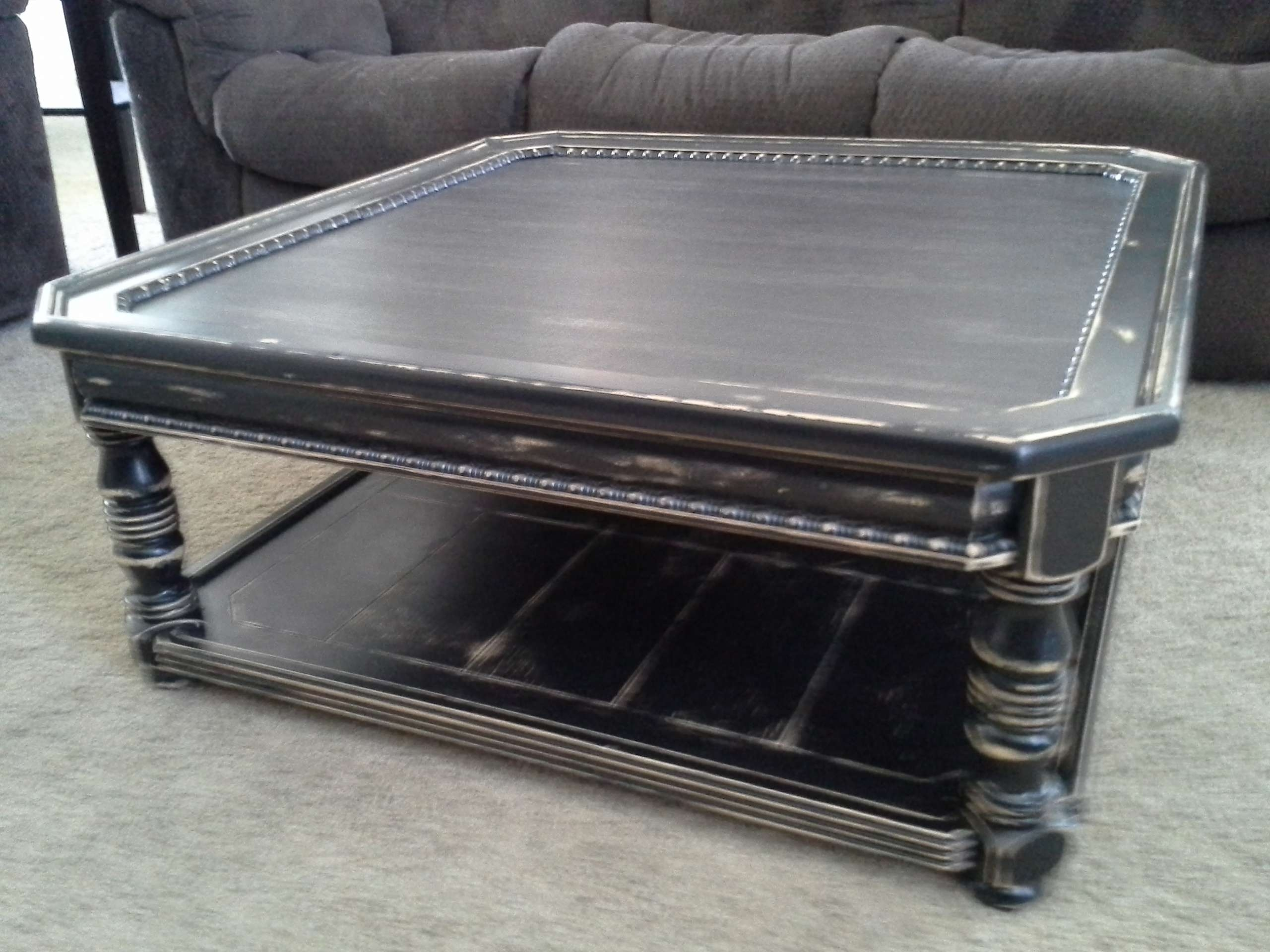 Preferred Square Black Coffee Tables In Coffee Tables Ideas: Top Distressed Black Coffee Table Distressed (View 18 of 20)