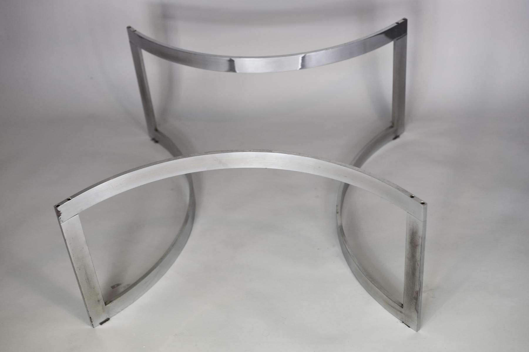 Preferred Thick Glass Coffee Table With Regard To Chromed Steel And Thick Glass Coffee Table From Dassas, 1963 For (View 15 of 20)