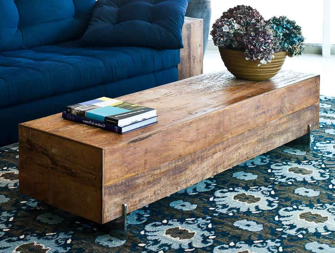 Preferred Thin Coffee Tables In Reclaimed Wood Coffee Table Hairpin Legsherpowerhustle (View 20 of 20)