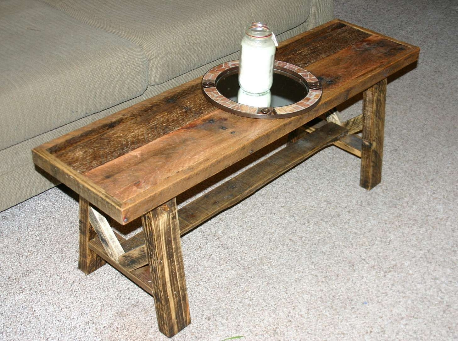 Preferred Thin Coffee Tables Throughout Belham Living Jocelyn Coffee Table Whitewalnut Hayneedle With (View 7 of 20)