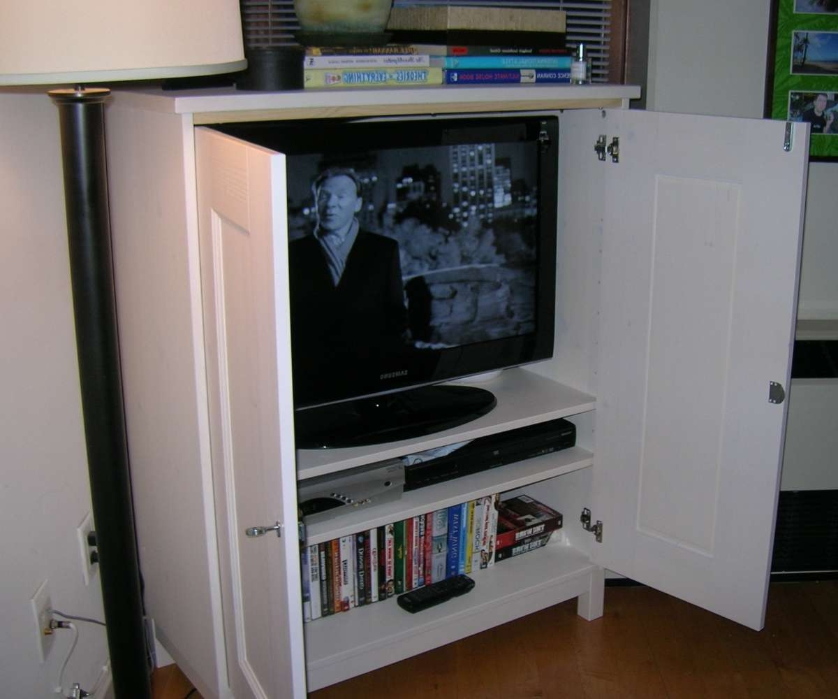 Prodigious Tv Cabinet Ikea A Media Cabinet Media Cabinets With For Enclosed Tv Cabinets With Doors (View 15 of 20)