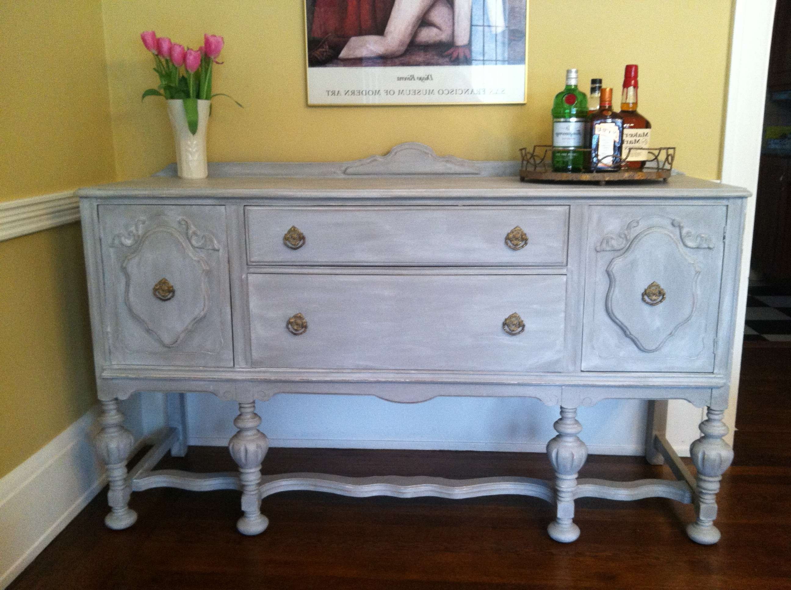 Project File: Adventures In Annie Sloan Chalk Paint | Sharon Holbrook With Annie Sloan Painted Sideboards (View 14 of 20)