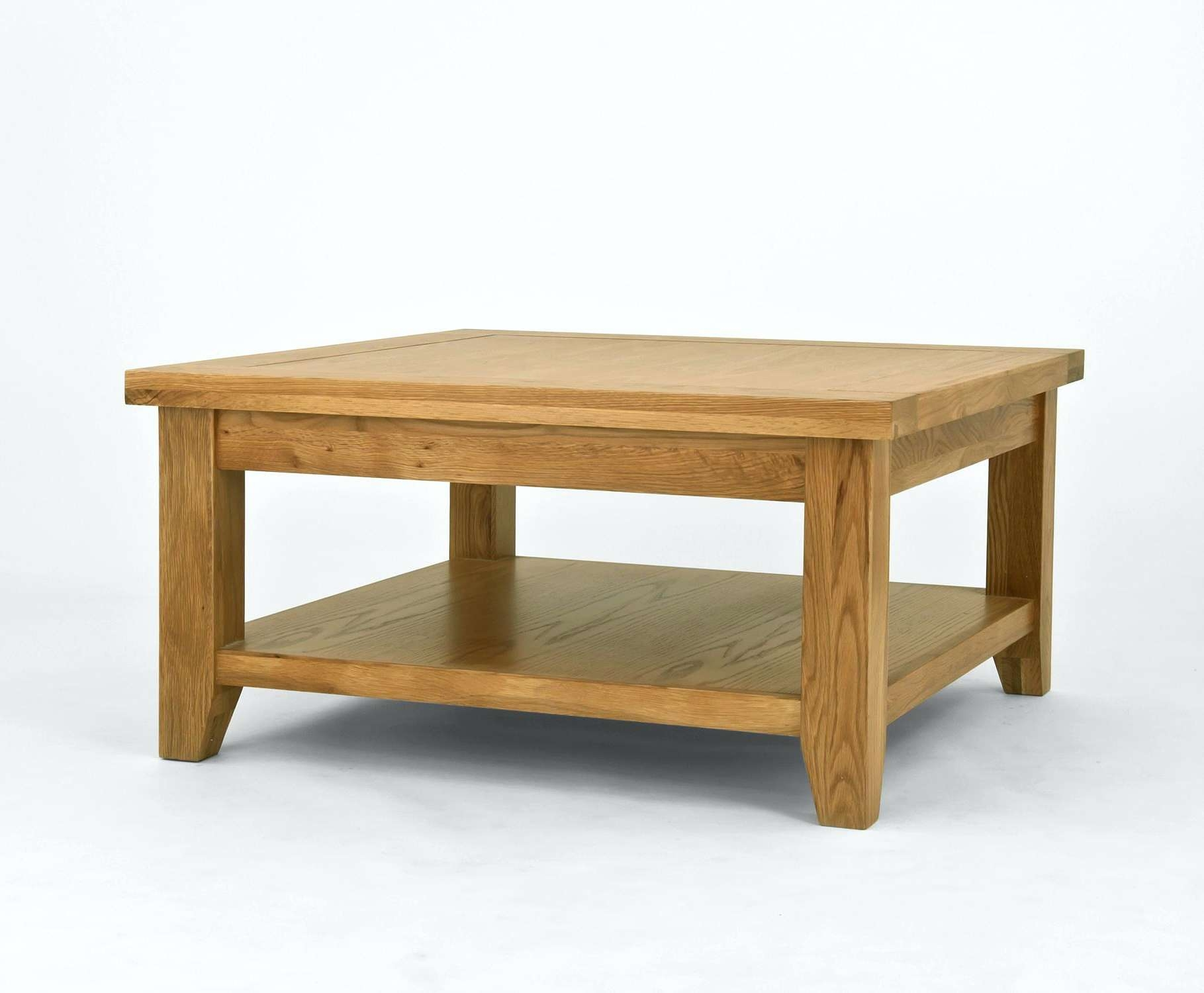 Provence Coffee Table Oak Square With Shelf Is An Extensive Solid Within Well Known Oak Coffee Tables With Shelf (View 16 of 20)
