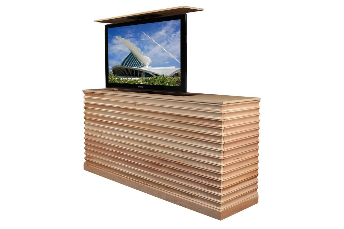 Raising Tv Cabinet | Accord Maple Tv Lift Cabinet Pertaining To Maple Tv Cabinets (View 15 of 20)