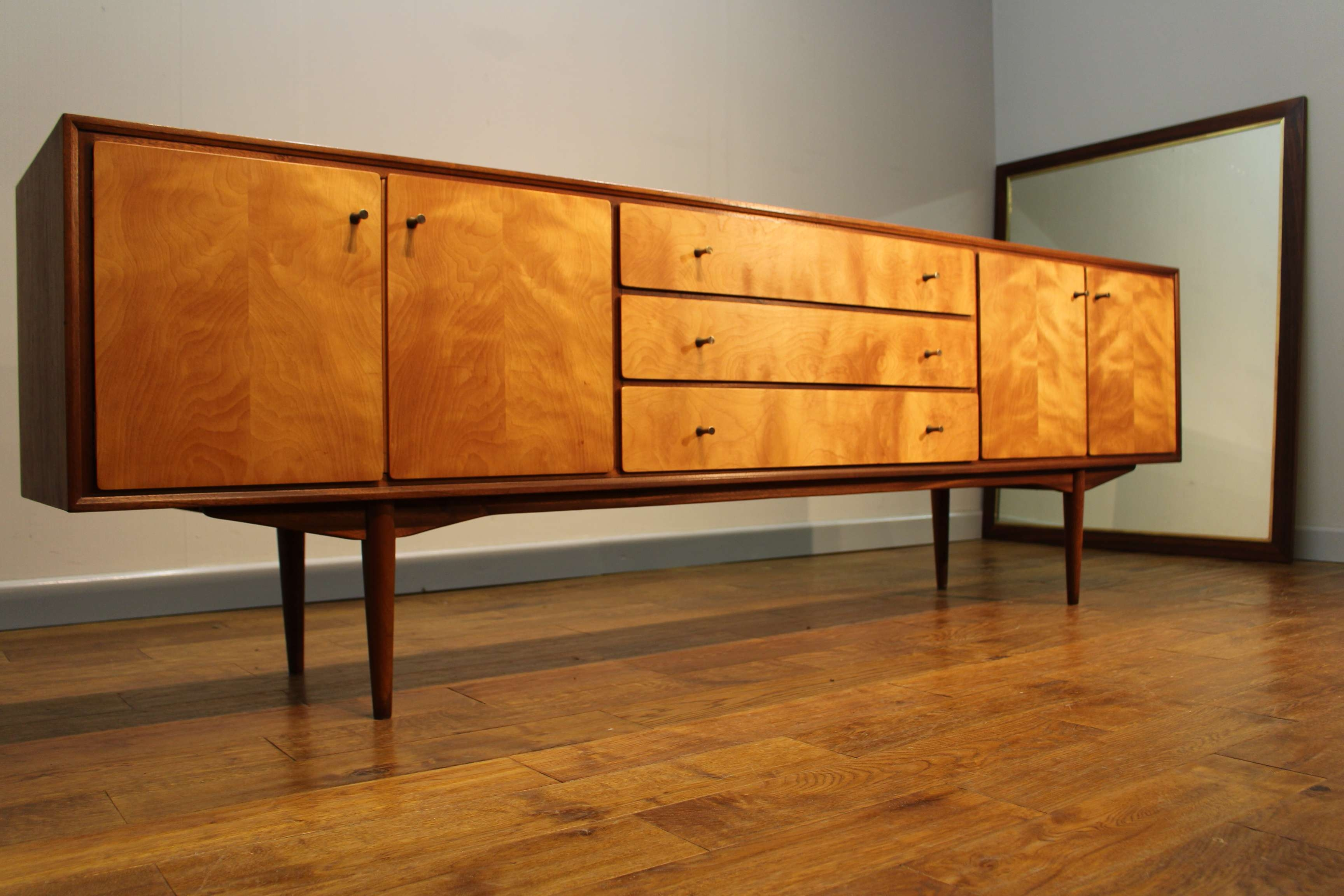 Rare Mid Century 1960S British Teak And Maple Sideboardeverest For Maple Sideboards (View 11 of 20)