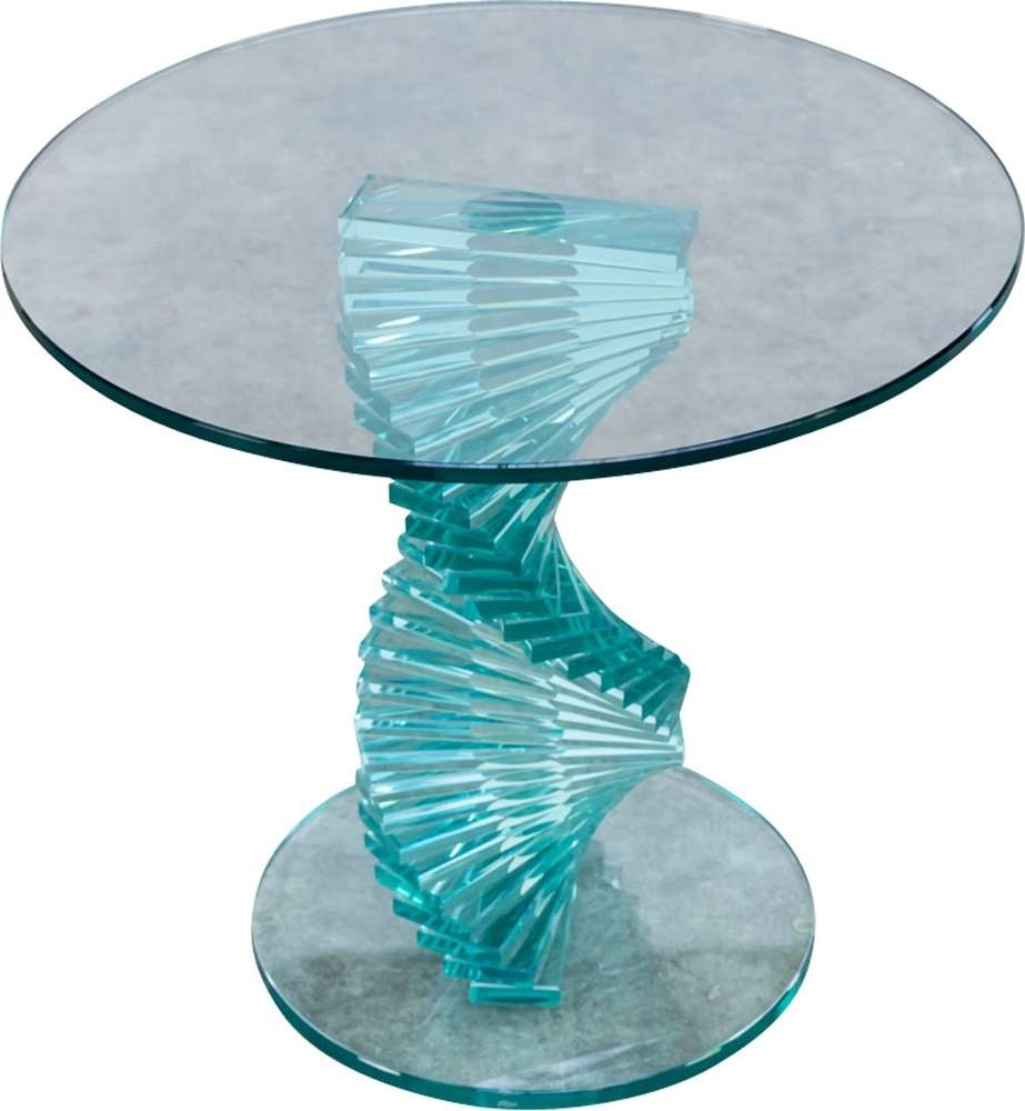 Ravello Spiral Glass Side Table 1980s Design Market Pertaining To Famous Coffee