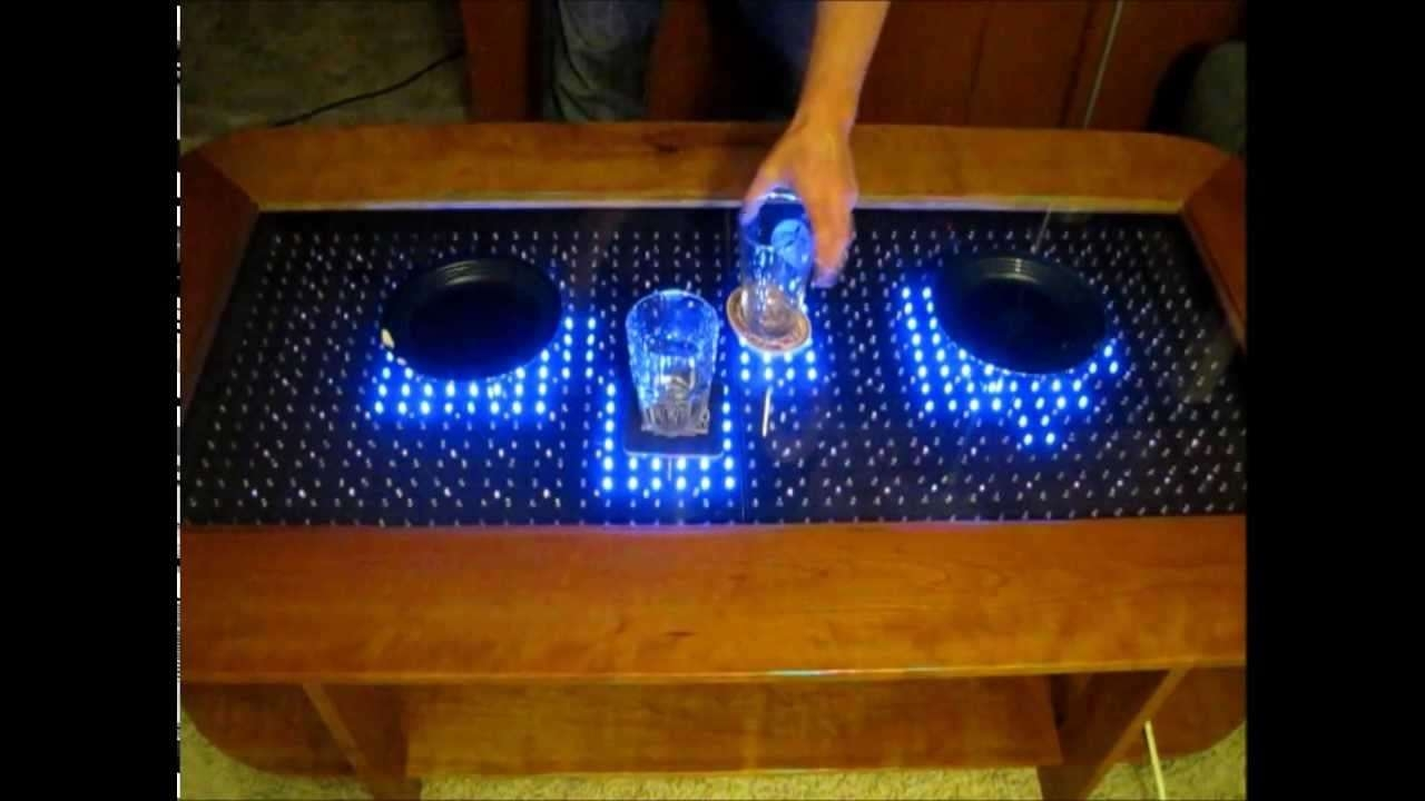 Reactive Led Coffee Table – Arduino – Youtube Regarding Famous Led Coffee Tables (View 15 of 20)