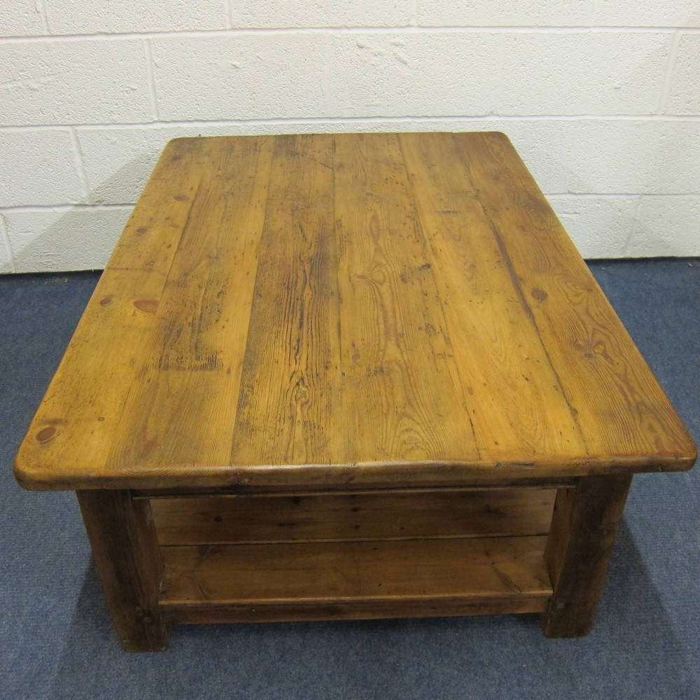 Recent Antique Pine Coffee Tables With Regard To Coffee Table : Phenomenal Round Pine Coffee Tables Uk Bewitch (View 17 of 20)