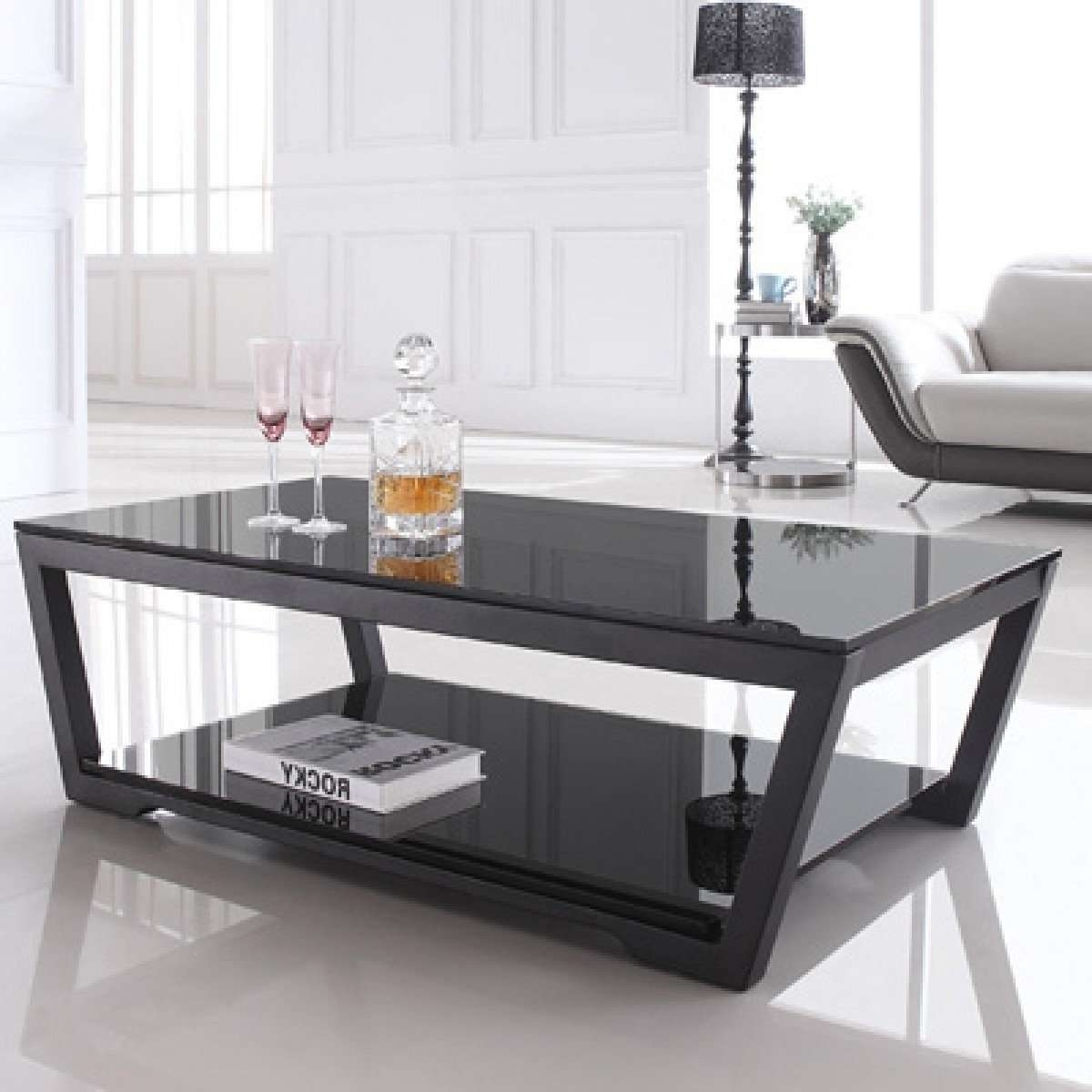 Recent Black Glass Coffee Tables With Regard To Black Glass Coffee Table — The Decoras Jchansdesigns (View 9 of 20)