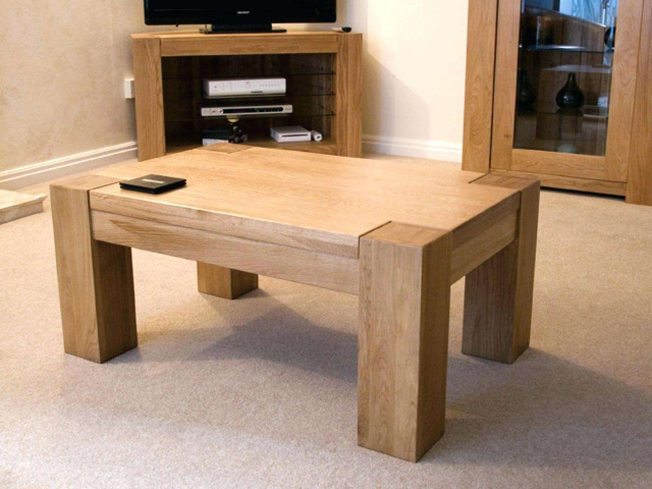 Recent Chunky Oak Coffee Tables Within Coffee Table: Chunky Coffee Table (View 6 of 20)