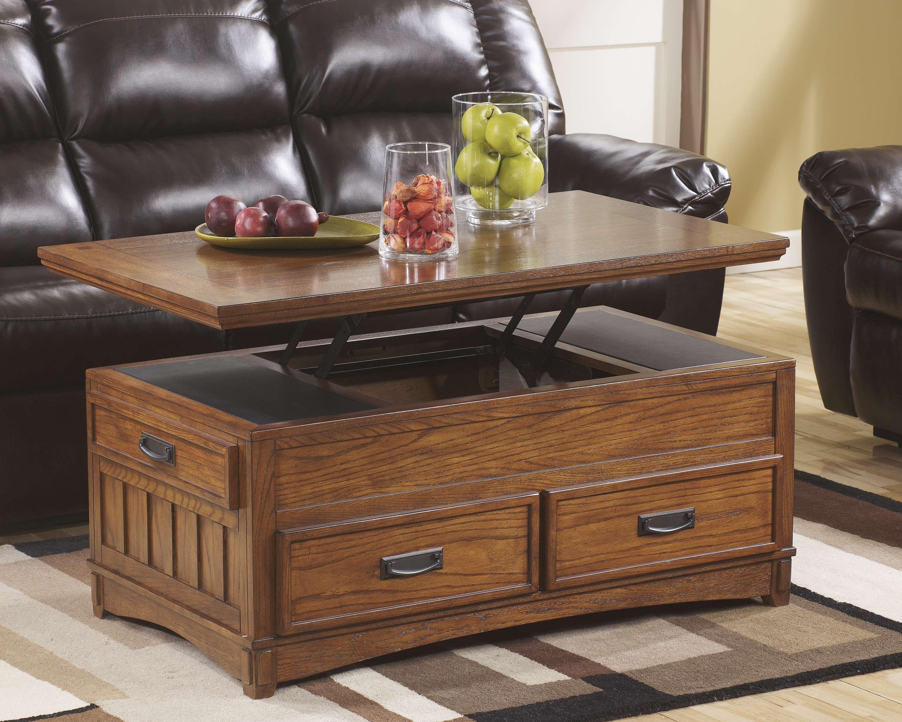 Recent Coffee Table With Raised Top Throughout Coffee Tables : Ashley Furniture Lift Top Coffee Table Best Mentor (View 13 of 20)
