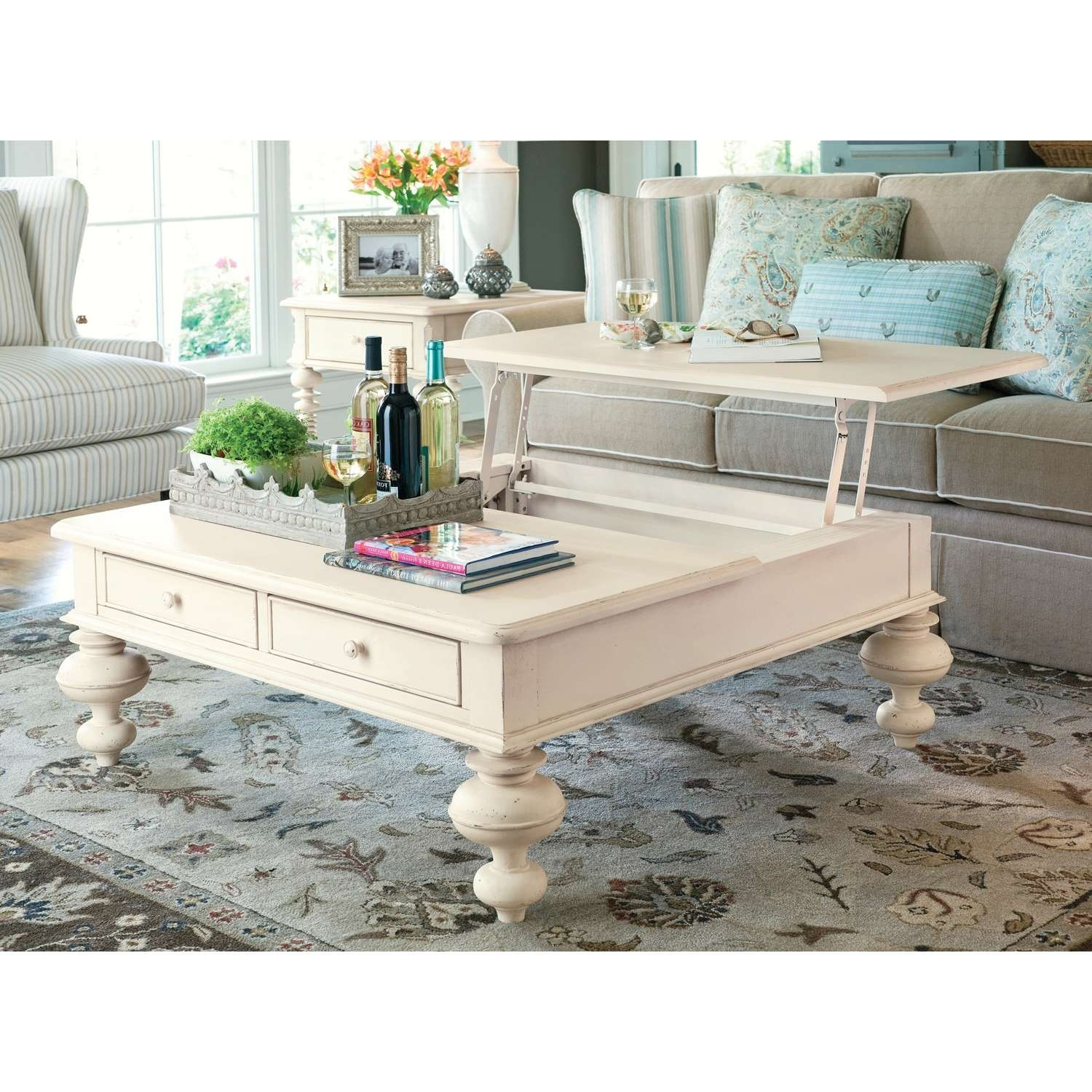 Recent Coffee Tables Top Lifts Up Throughout Paula Deen Home Put Your Feet Up Lift Top Coffee Table Set – Take (View 16 of 20)