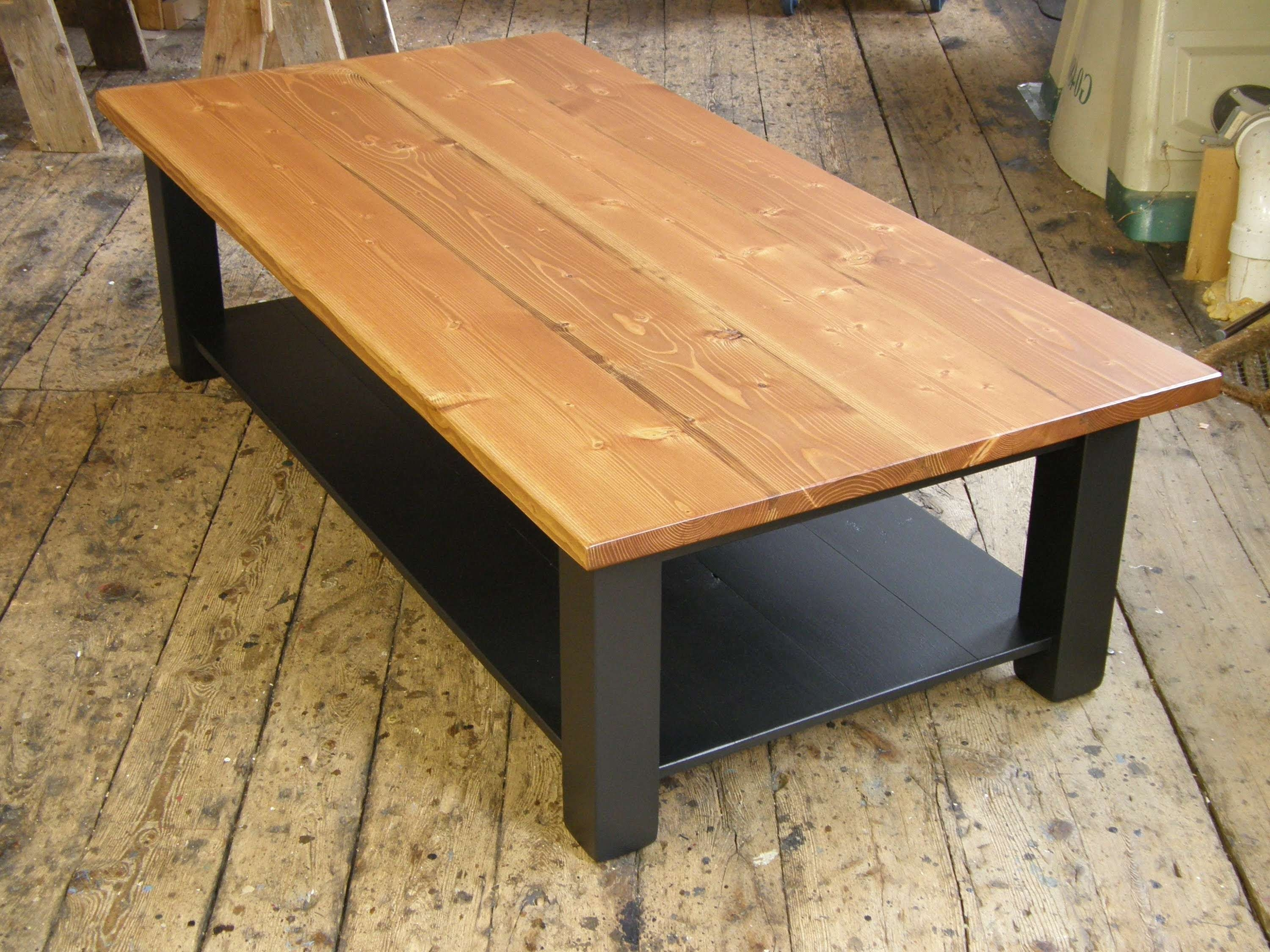 Recent Coffee Tables With Shelf Underneath Regarding Coffee Table With A Shelf – Youtube (View 2 of 20)