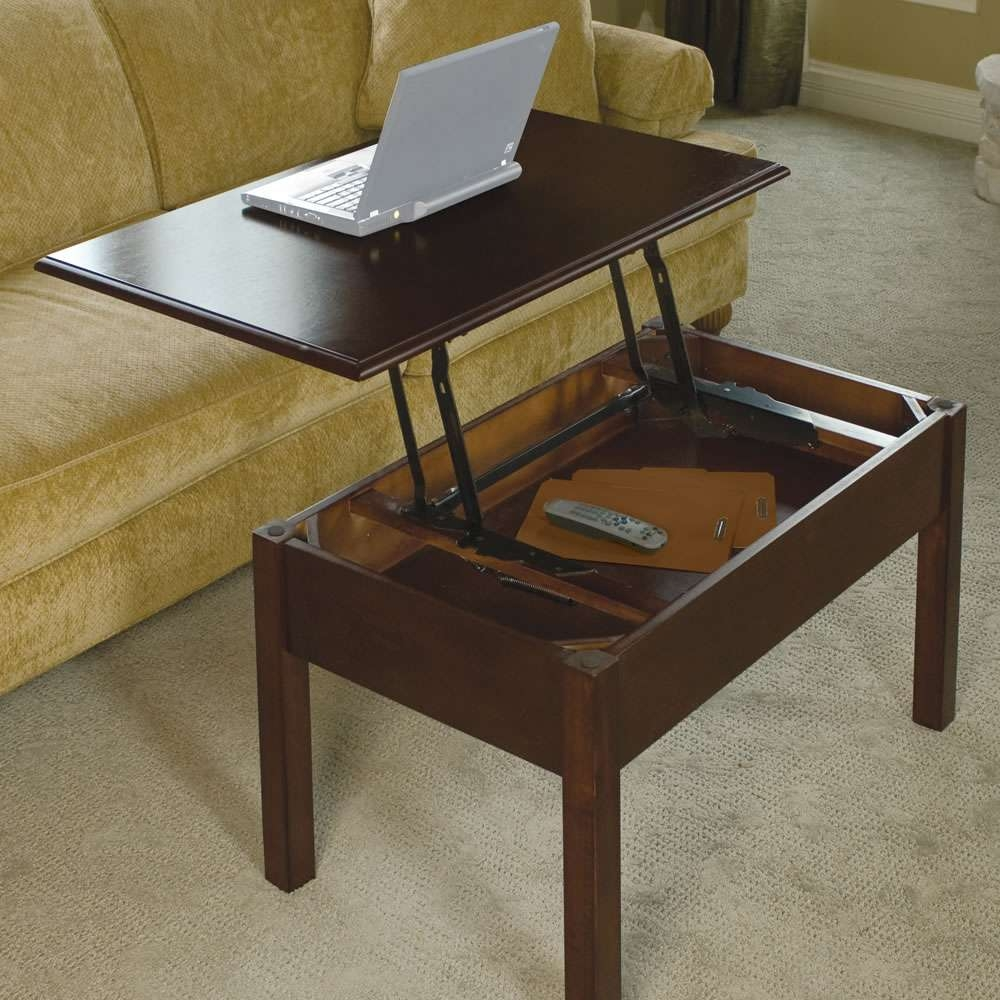 Recent Desk Coffee Tables Within The Convertible Coffee Table – Hammacher Schlemmer (View 17 of 20)
