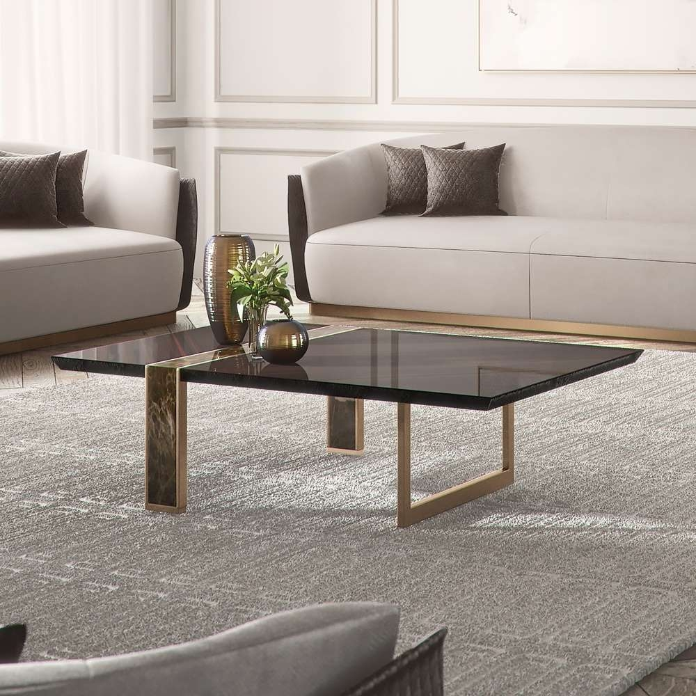Recent Exclusive Coffee Tables Pertaining To Modern Italian Ebony Veneered Coffee Table (View 17 of 20)
