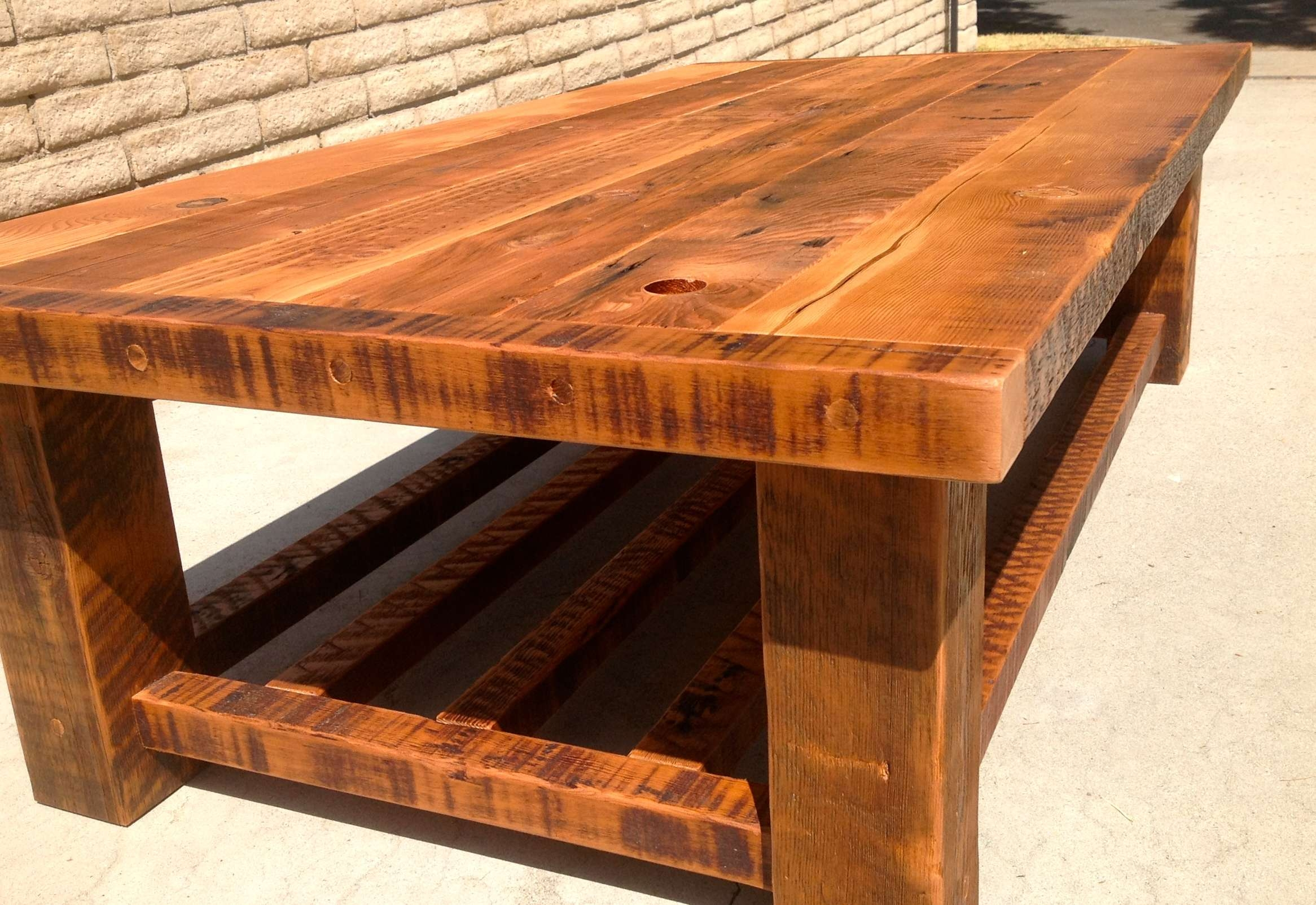 Recent Handmade Wooden Coffee Tables Within Coffee Tables : Best Golden Rectangle Traditional Wood Handmade (View 20 of 20)