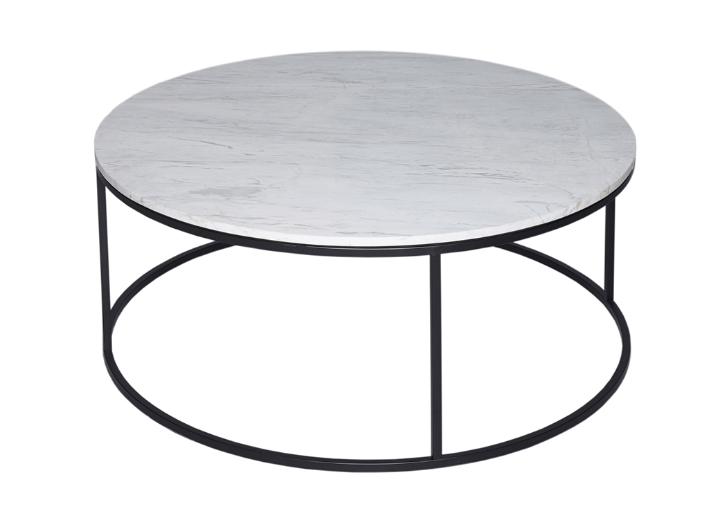 Recent Marble Round Coffee Tables In Slimline Retro Circular Coffee Tables – Marble, Walnut And Glass (View 14 of 20)
