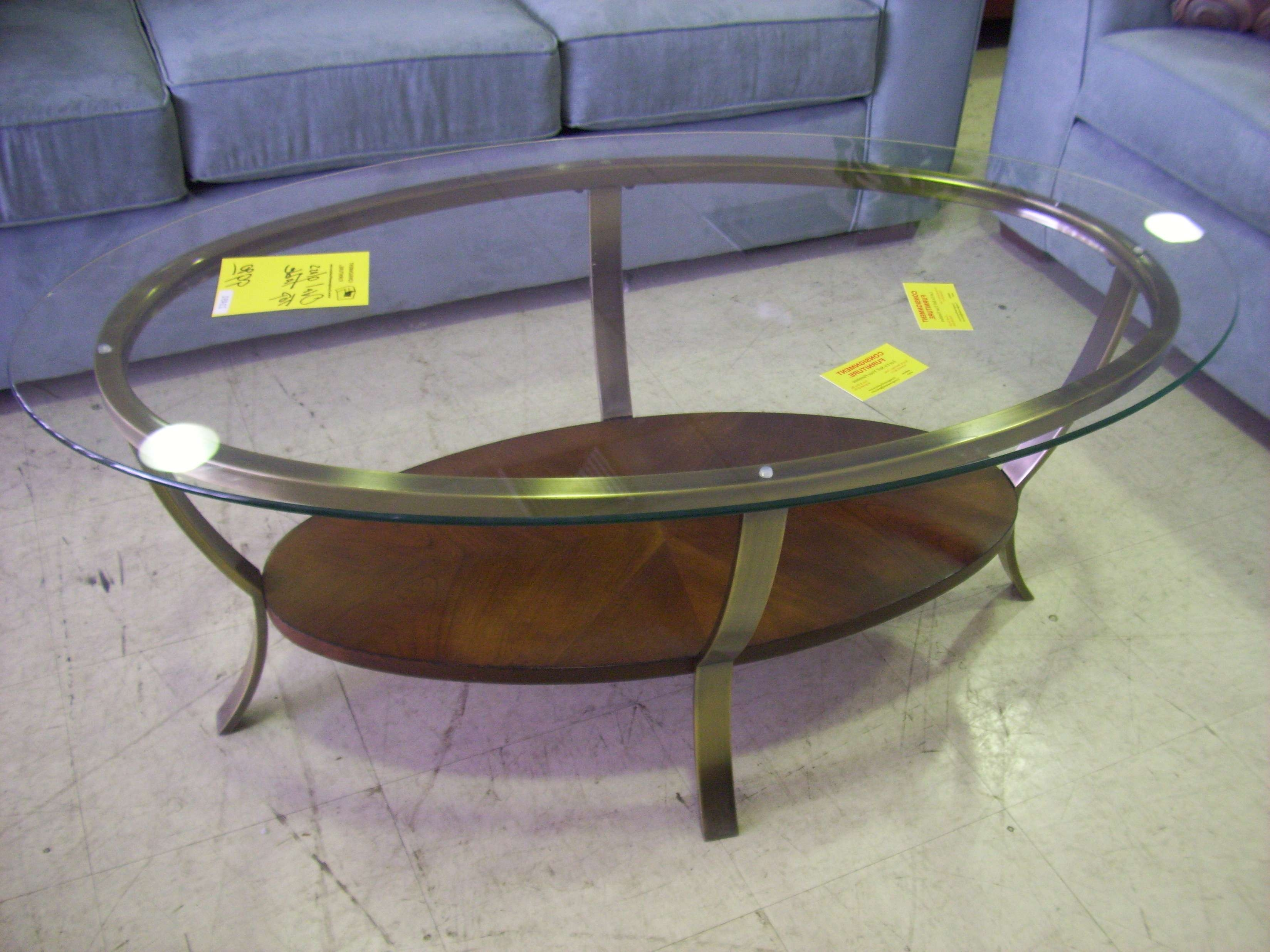 Recent Oval Glass And Wood Coffee Tables Pertaining To Coffee Table : Fabulous Cocktail Tables Black Glass Coffee Table (View 10 of 20)