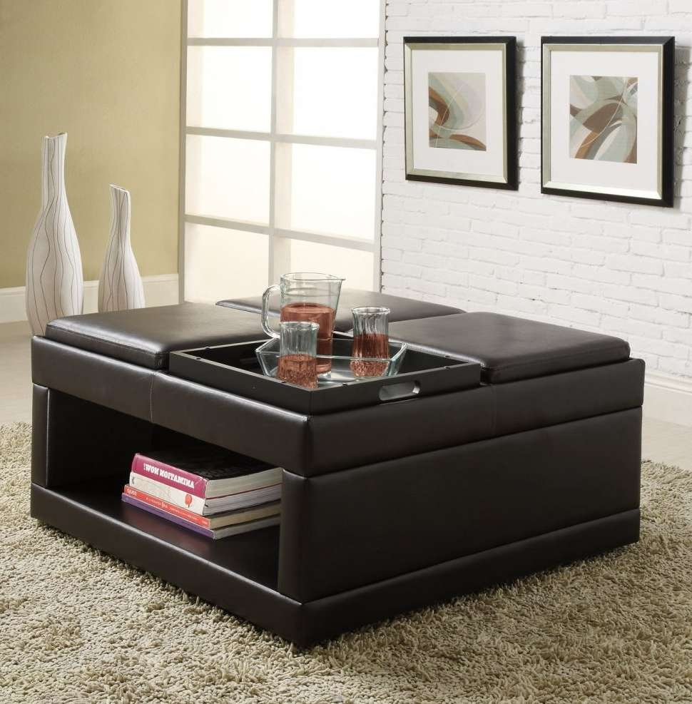 Recent Purple Ottoman Coffee Tables Inside Furniture : Fabric Ottoman Coffee Table Large Square Ottoman (View 13 of 20)