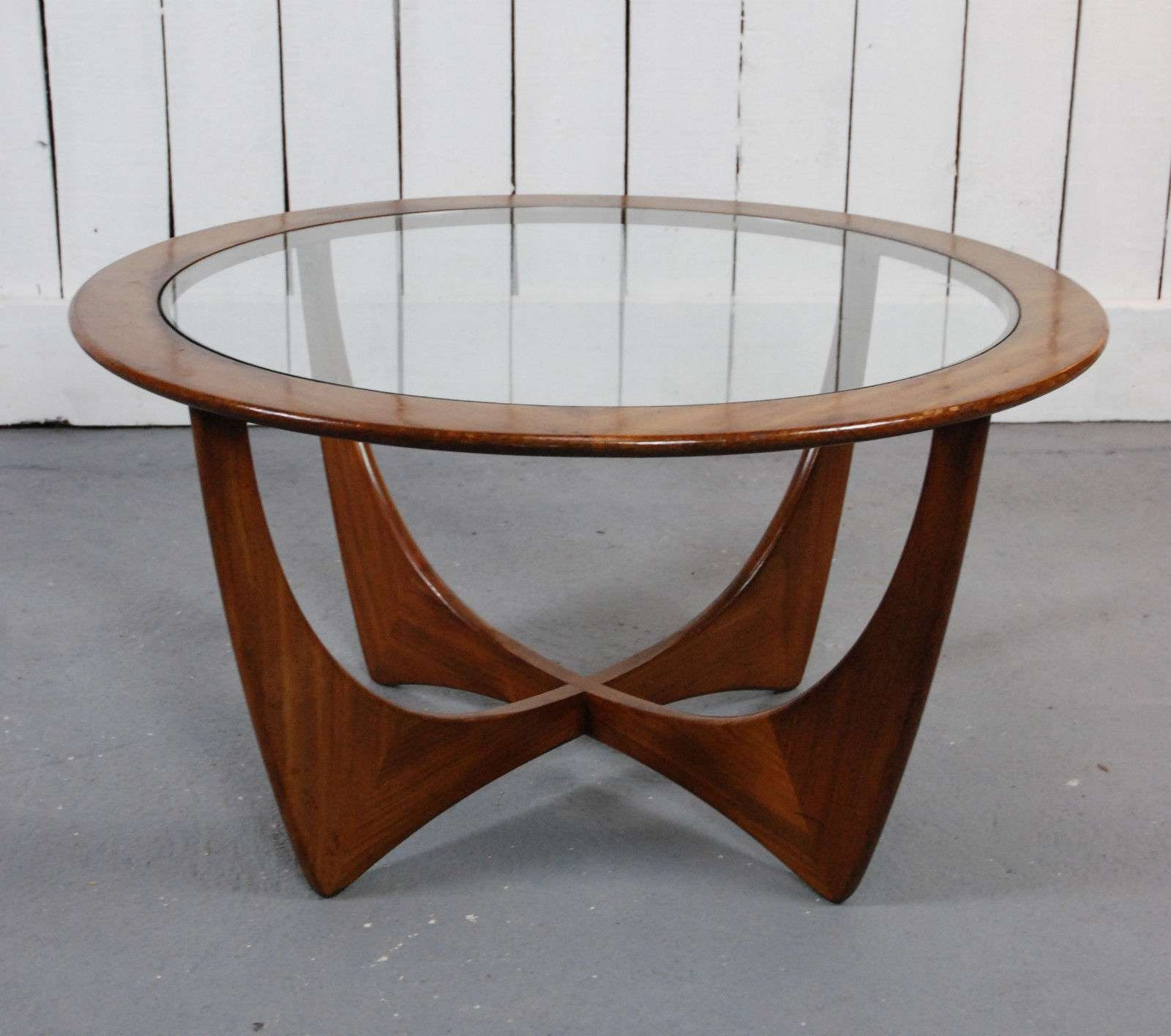 Recent Retro Smoked Glass Coffee Tables Regarding Small Round Coffee Table With Storage Tags : Amazing Round Glass (View 12 of 20)