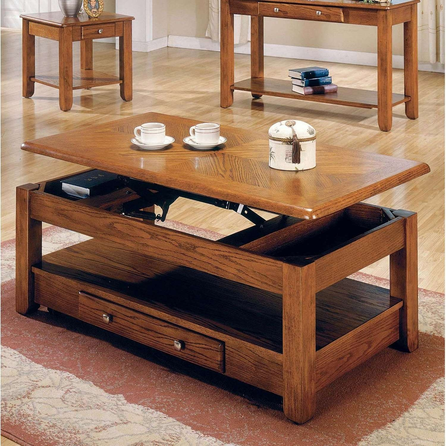 Recent Rising Coffee Tables Inside Coffee Table : Amazing Cool Coffee Tables Oak Coffee Table (View 15 of 20)