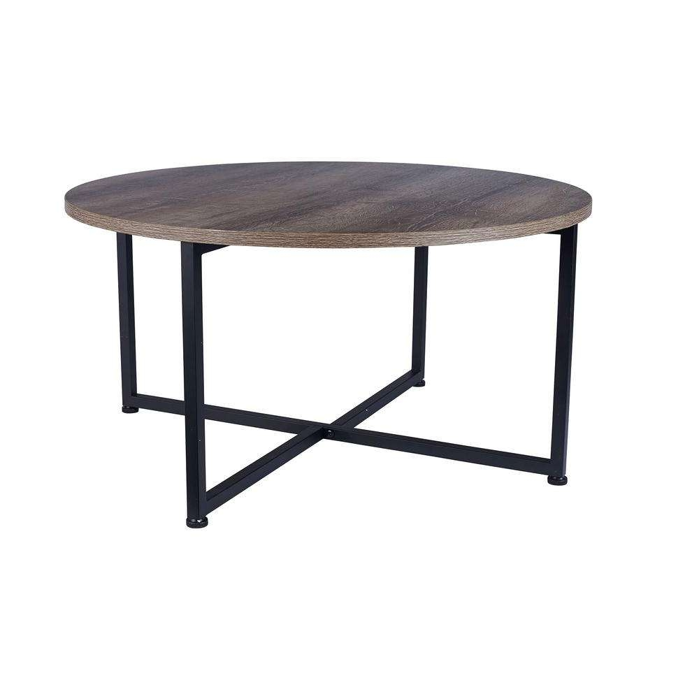 Recent Round Coffee Tables With Household Essentials Ashwood Round Coffee Table In Light Wood  (View 17 of 20)