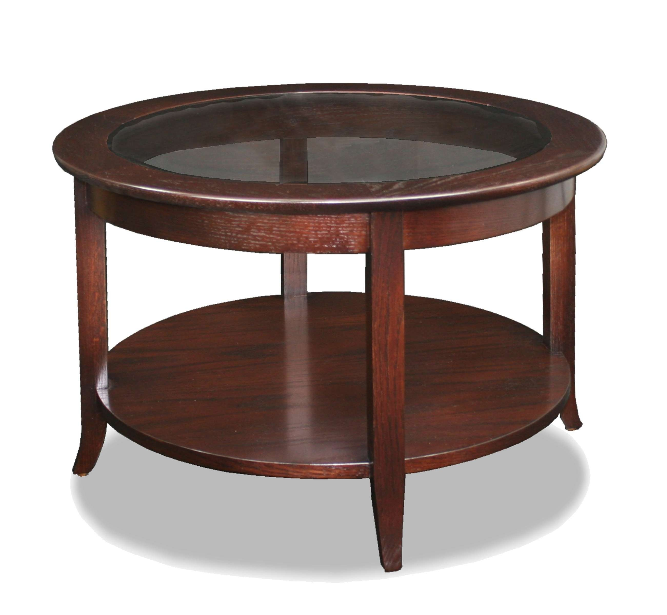 Recent Round Coffee Tables With Storages Throughout Coffee Tables : Round Coffee Table Wood And Glass With Storage (View 14 of 20)