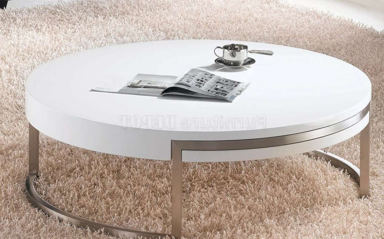 Recent Round High Gloss Coffee Tables Throughout Coffee Table : Round High Gloss Coffee Table Remarkable Contour (View 2 of 20)