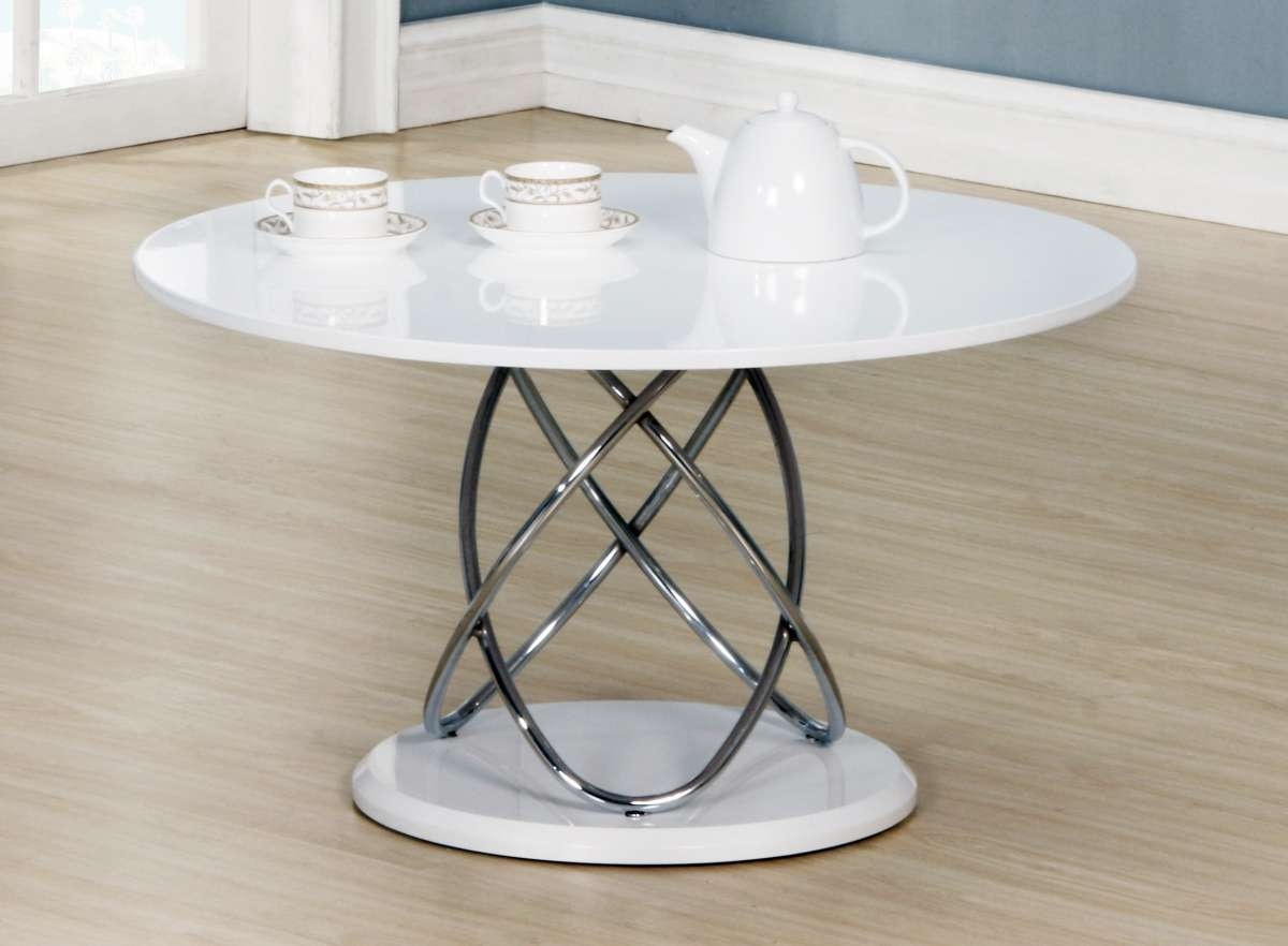 Recent Round High Gloss Coffee Tables Within Dockland Prestige Residential » Eclipse White High Gloss Coffee Table (View 11 of 20)
