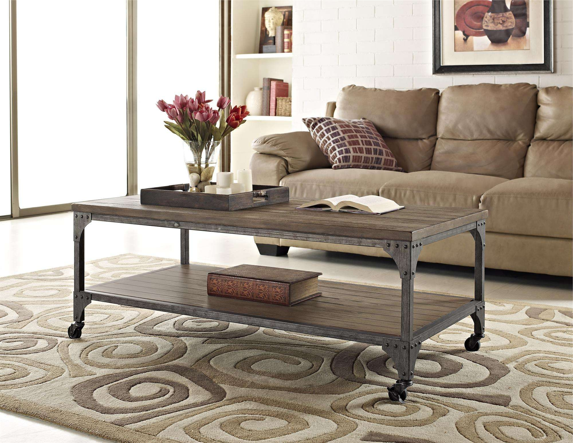 Recent Rustic Coffee Table And Tv Stand Pertaining To Ameriwood Furniture (View 7 of 20)
