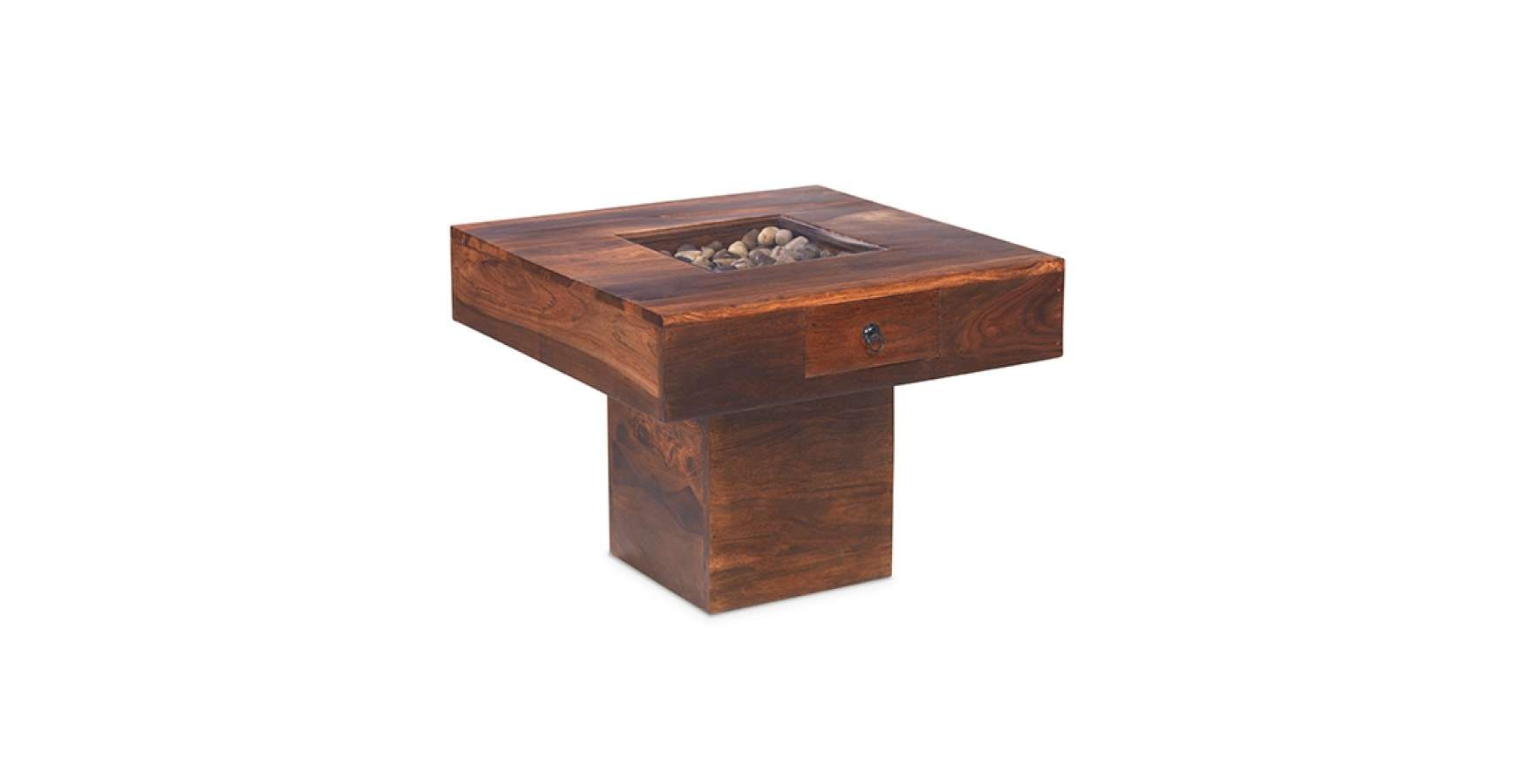Recent Sheesham Coffee Tables Within Jali Sheesham Small Pebble Coffee Table – Lifestyle Furniture Uk (View 20 of 20)