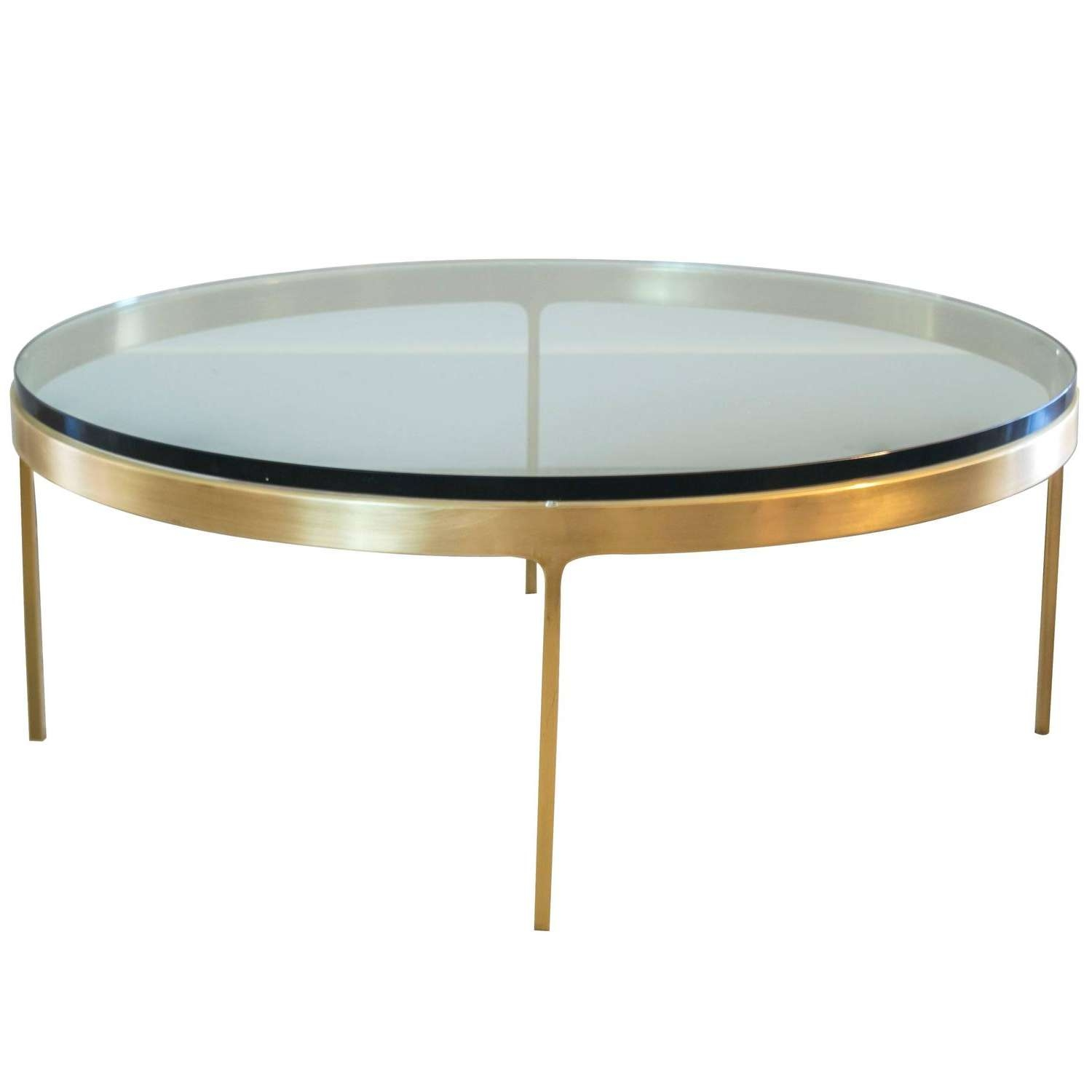 Recent Solid Round Coffee Tables Throughout Solid Brass Round Coffee Tablenicos Zographos At 1Stdibs (View 14 of 20)