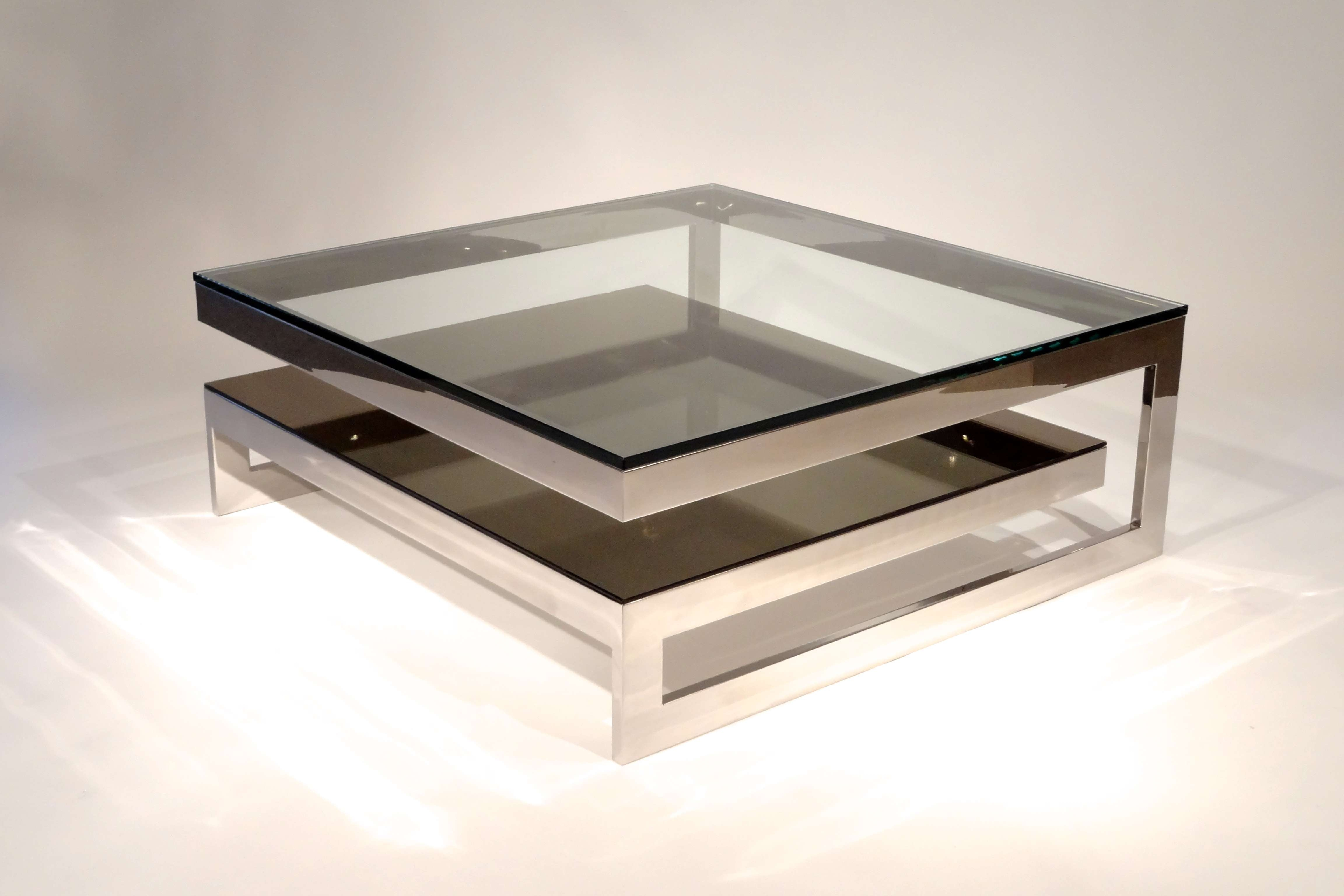 Recent Square Glass Coffee Tables Intended For Coffee Tables : Coffee End Tables Glass Top Drawer Table Square (View 15 of 20)