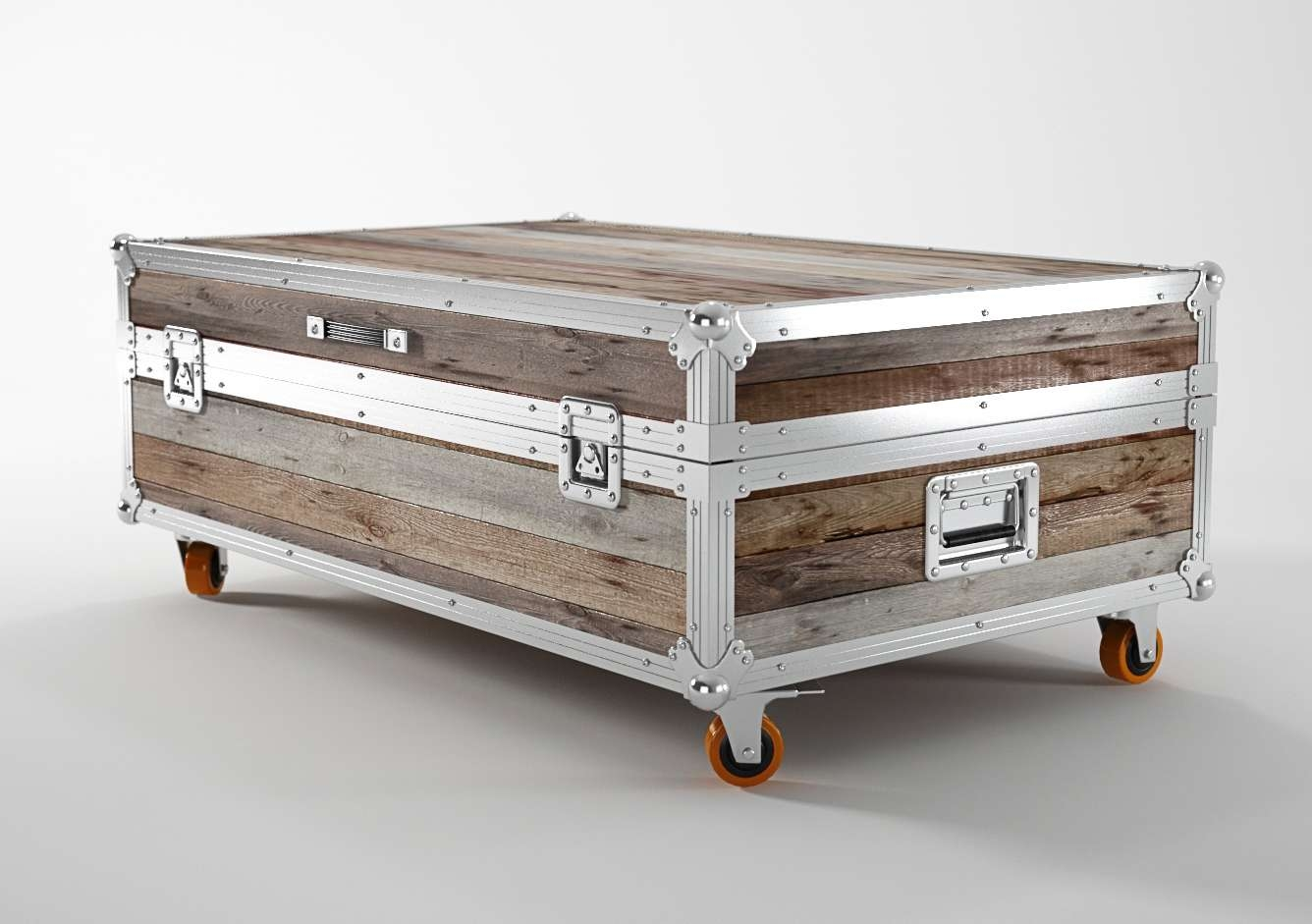 Recent Steamer Trunk Stainless Steel Coffee Tables Inside Coffee Table, Best Trunk Coffee Table Diy Coffee Table Trunks With (View 6 of 20)