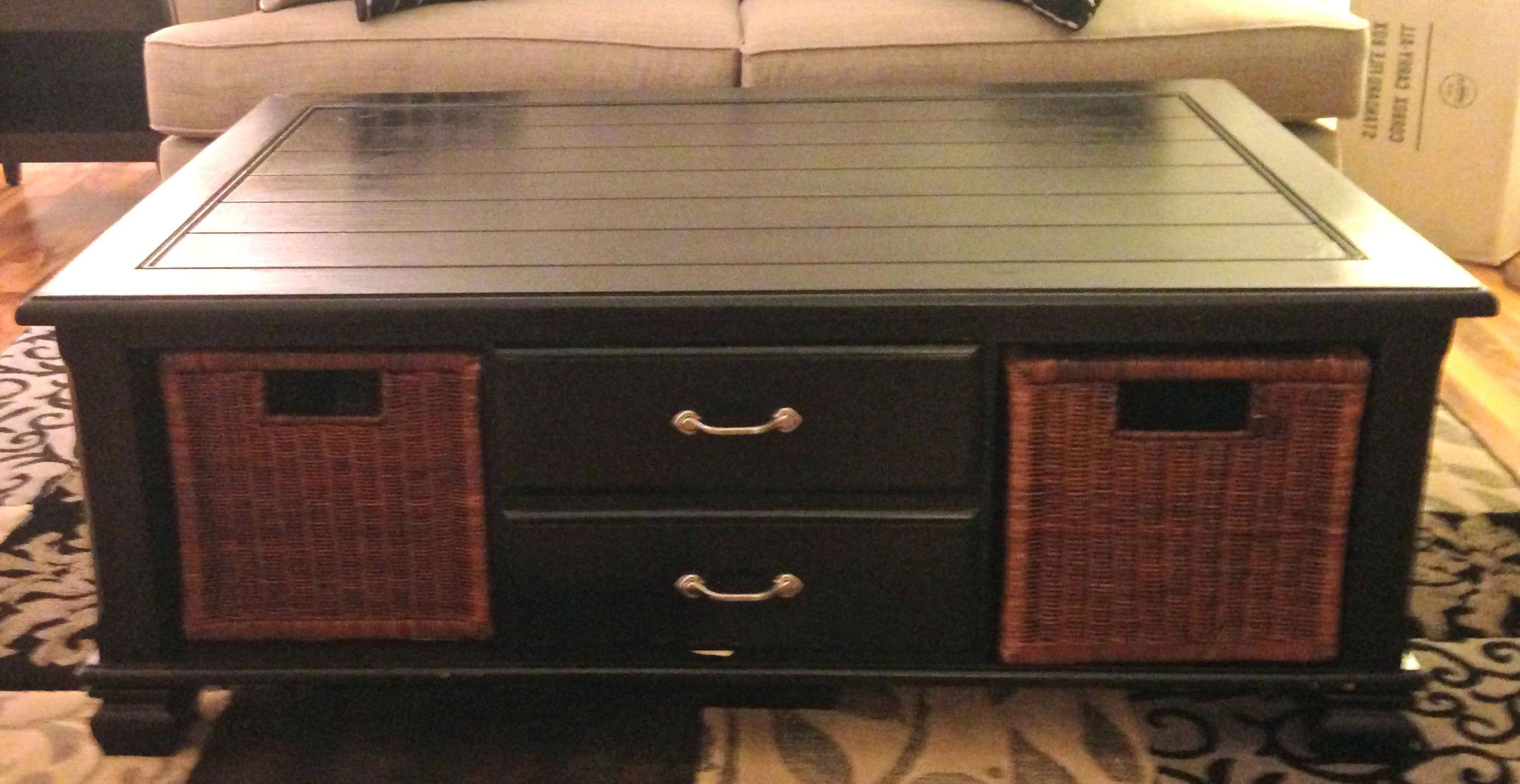 Recent White Coffee Tables With Baskets Regarding Coffee Table: Coffee Table With Baskets (View 17 of 20)