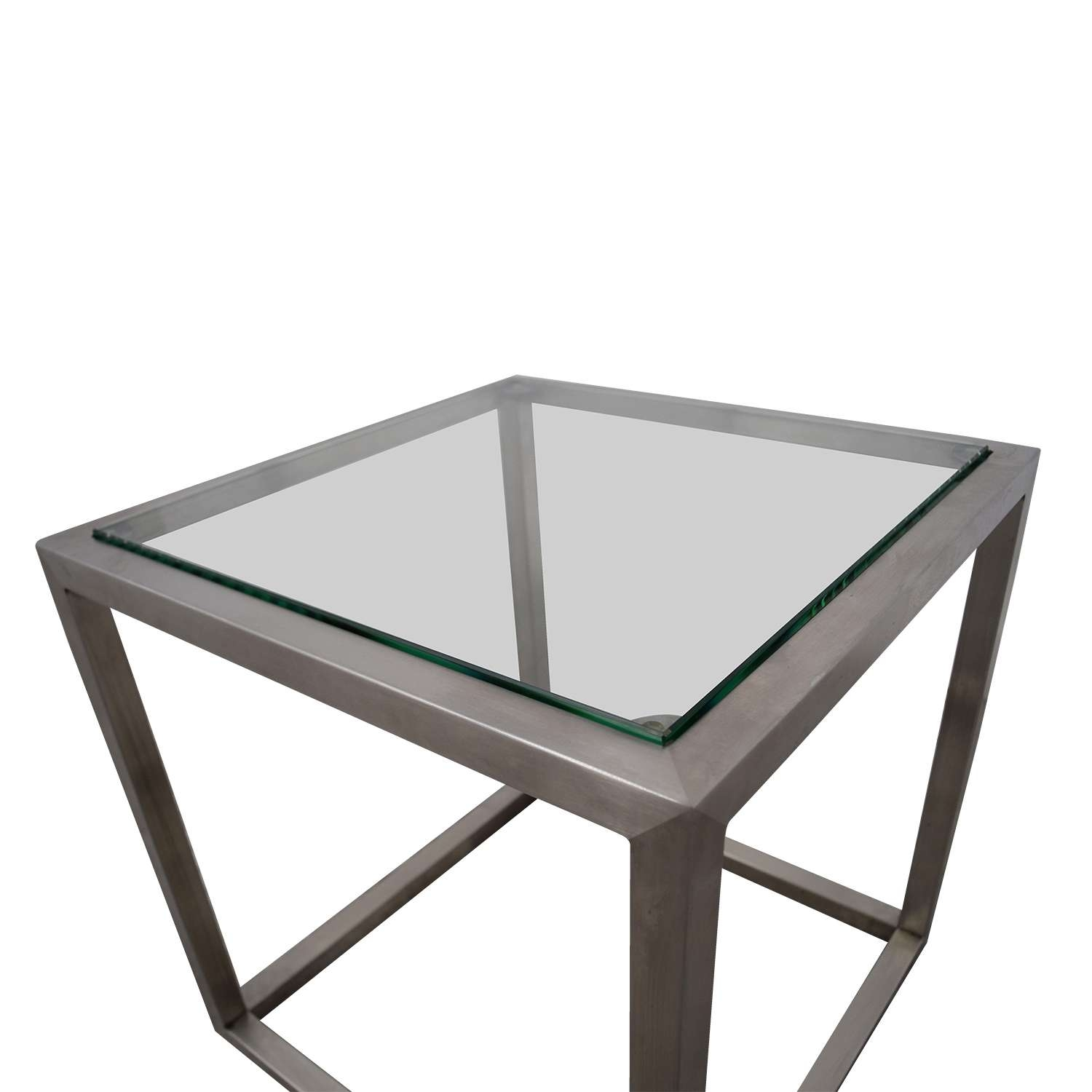 [%recent White Cube Coffee Tables Pertaining To 70% Off – Ethan Allen Ethan Allen Metal And Glass Cube Coffee|70% Off – Ethan Allen Ethan Allen Metal And Glass Cube Coffee Intended For Favorite White Cube Coffee Tables%] (View 19 of 20)