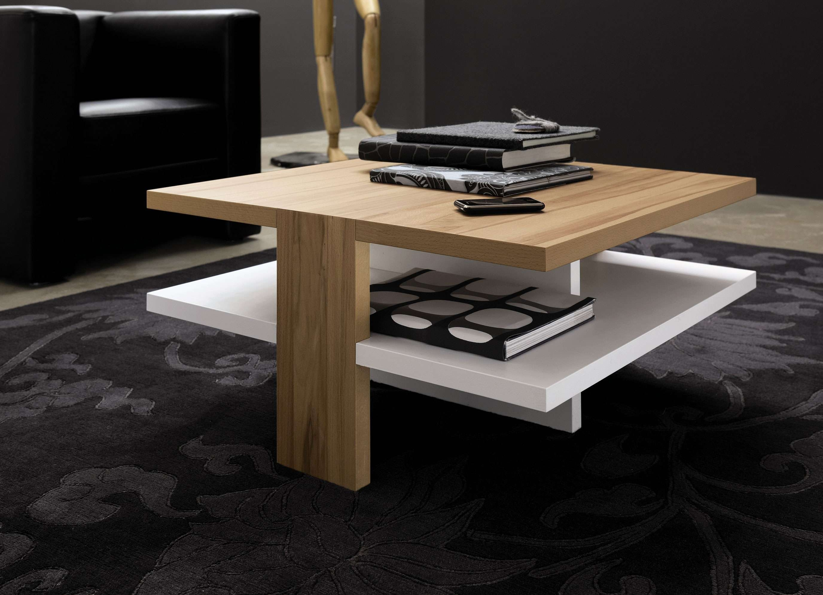 Recent Wood Modern Coffee Tables Throughout Modern Wood Coffee Table For Modern Theme – Chocoaddicts (View 19 of 20)