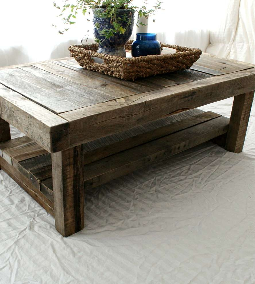 Reclaimed Barnwood Coffee Table (View 5 of 20)